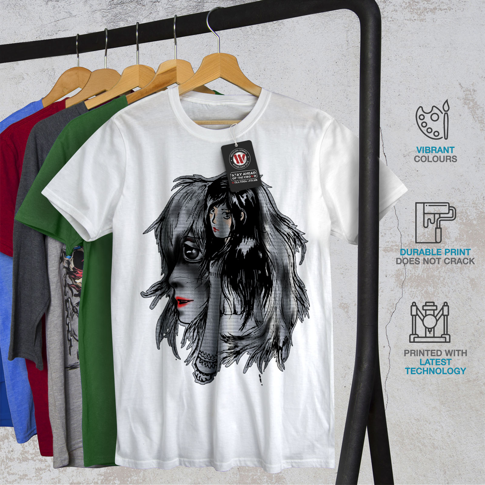 Wellcoda-bellissime-ANIME-Da-Uomo-T-shirt-misterioso-design-grafico-stampato-T-shirt miniatura 12