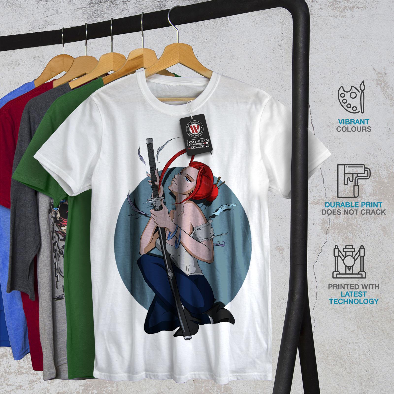 Wellcoda-Anime-Katana-Girl-Mens-T-shirt-Japanese-Graphic-Design-Printed-Tee thumbnail 12