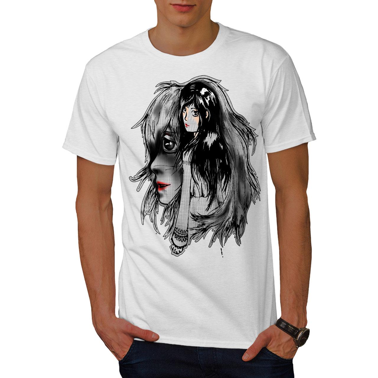 Wellcoda-bellissime-ANIME-Da-Uomo-T-shirt-misterioso-design-grafico-stampato-T-shirt miniatura 9