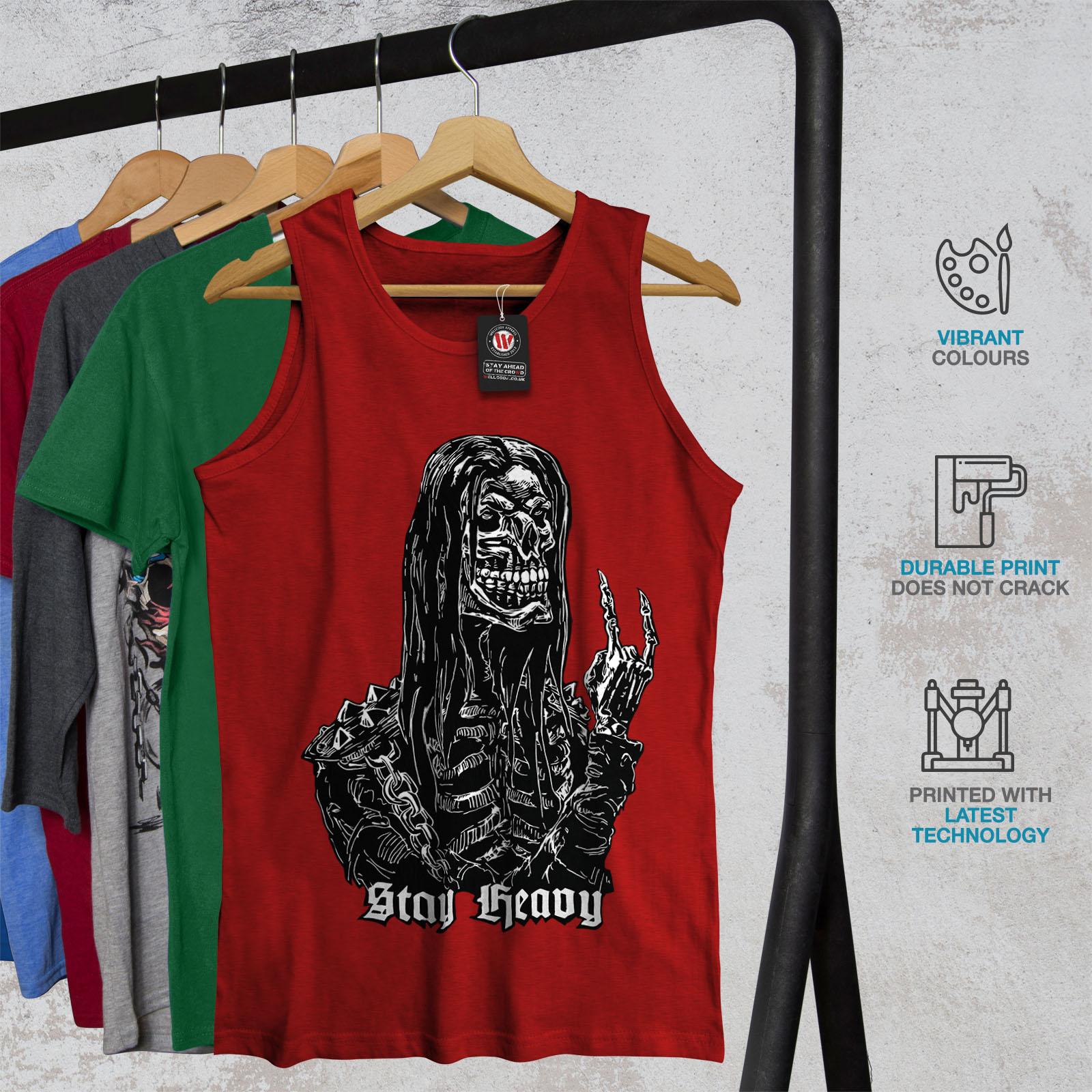 Skull Active Sports Shirt Wellcoda Heavy Metal Bad Guy Mens Tank Top
