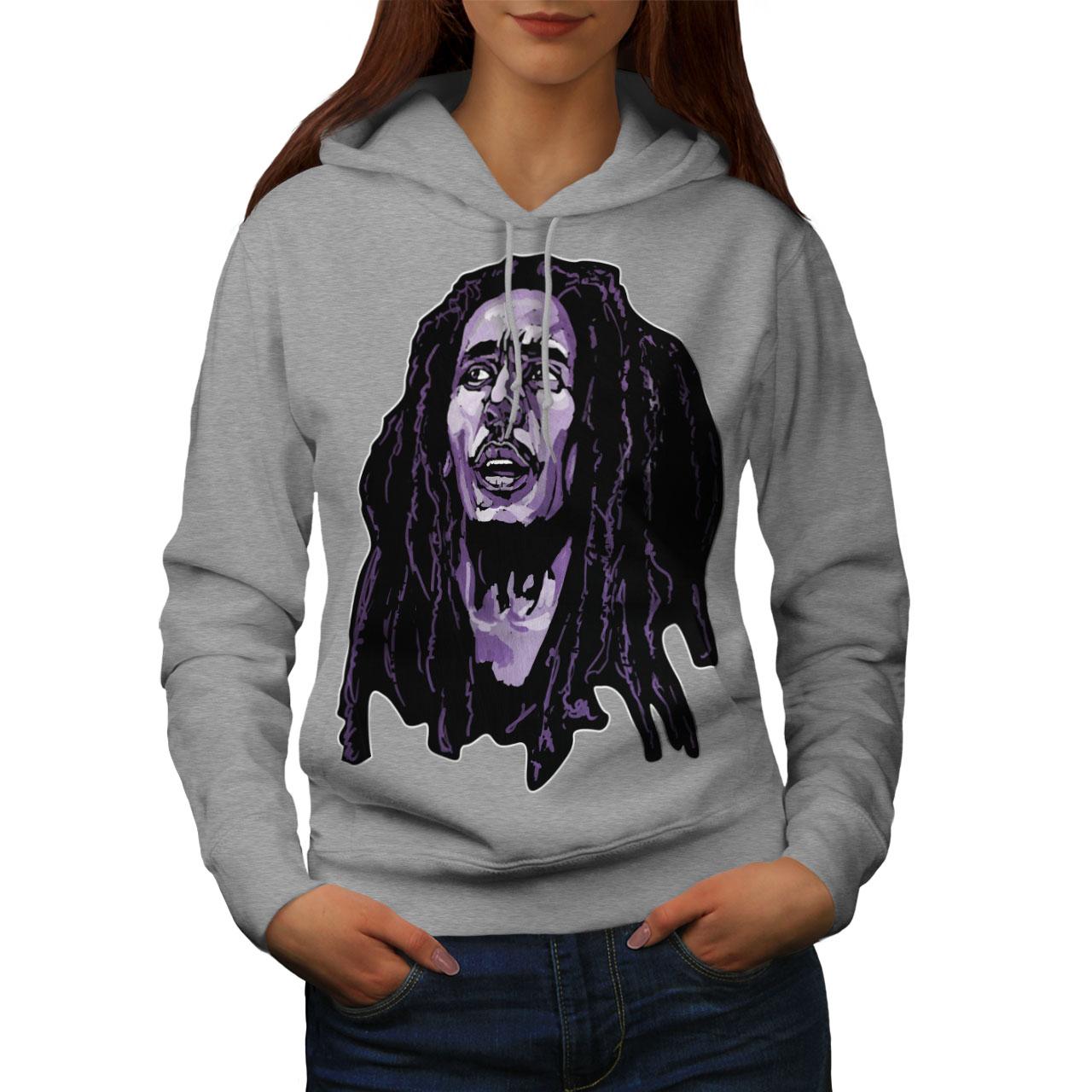 No Casual Hooded Sweatshirt Wellcoda Rasta Legend Celebrity Womens Hoodie