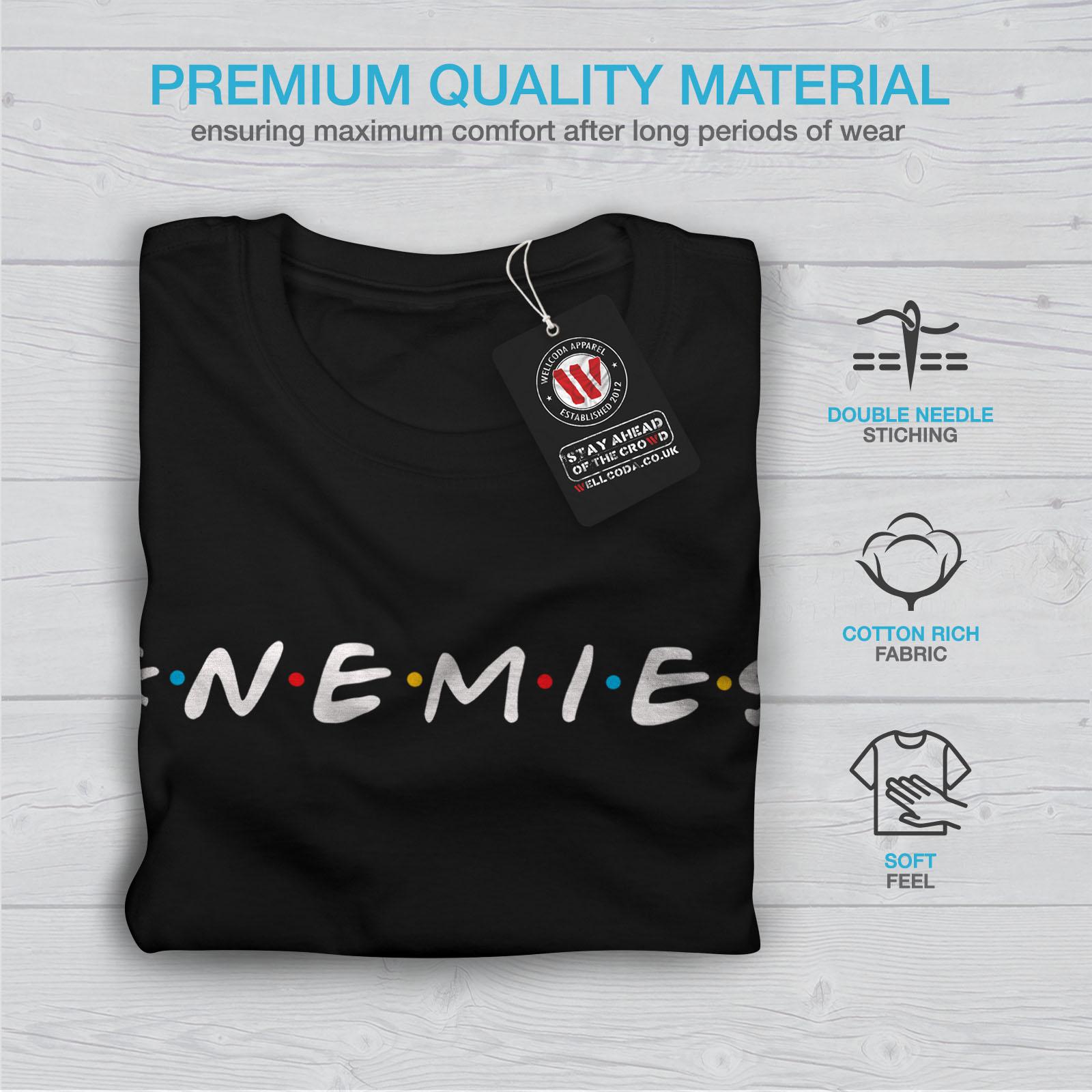 Wellcoda-Freunde-oder-Feinde-Damen-T-Shirt-Serie-Casual-Design-Printed-Tee Indexbild 7