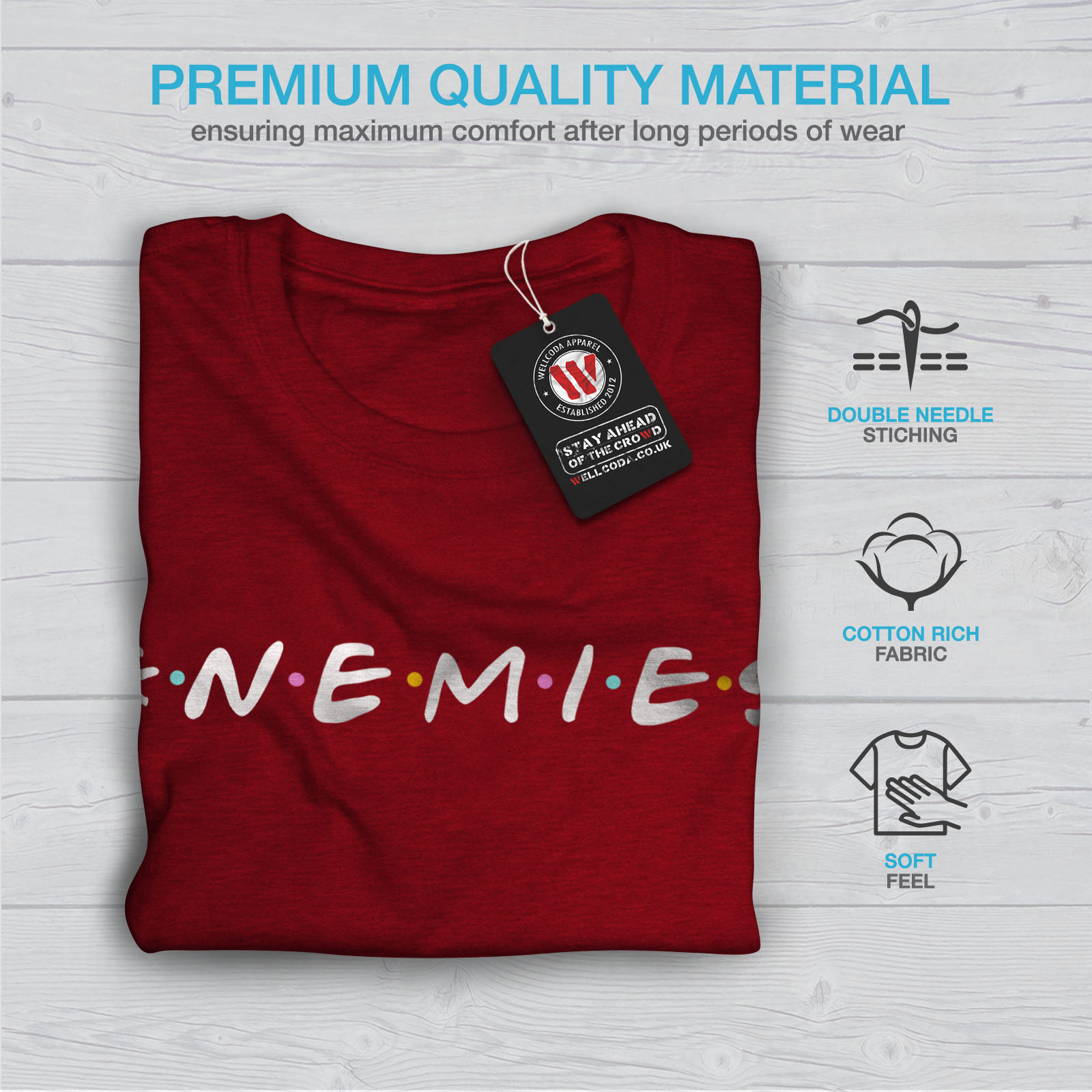 Wellcoda-Freunde-oder-Feinde-Damen-T-Shirt-Serie-Casual-Design-Printed-Tee Indexbild 13