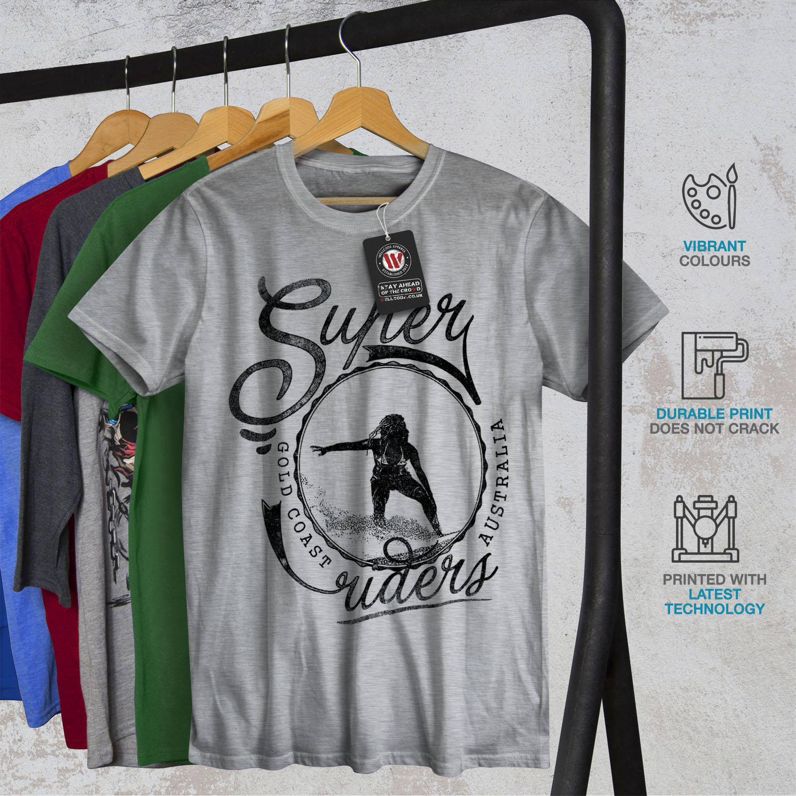 Wellcoda Pacific Surfing Holiday Mens Long Sleeve T-shirt West Graphic Design