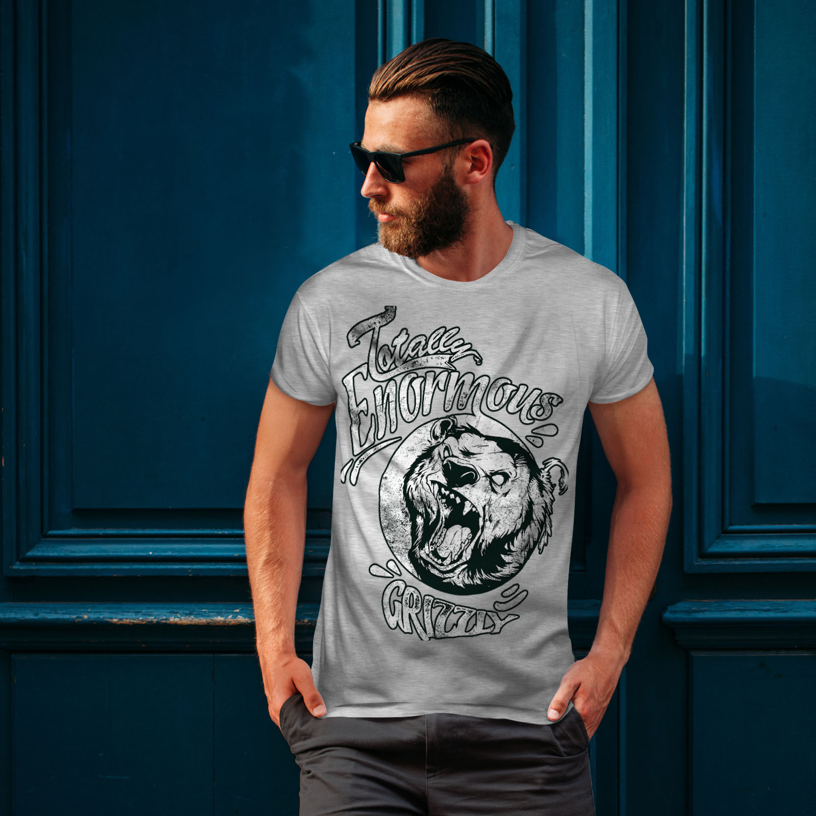 miniature 16 - Wellcoda Enormous Grizzly Bear Mens T-shirt, Totally Graphic Design Printed Tee