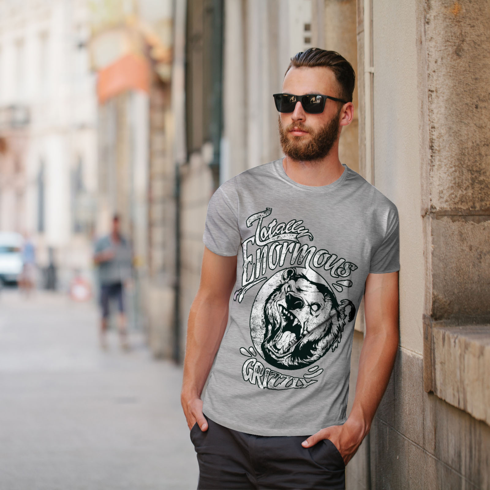 miniature 17 - Wellcoda Enormous Grizzly Bear Mens T-shirt, Totally Graphic Design Printed Tee