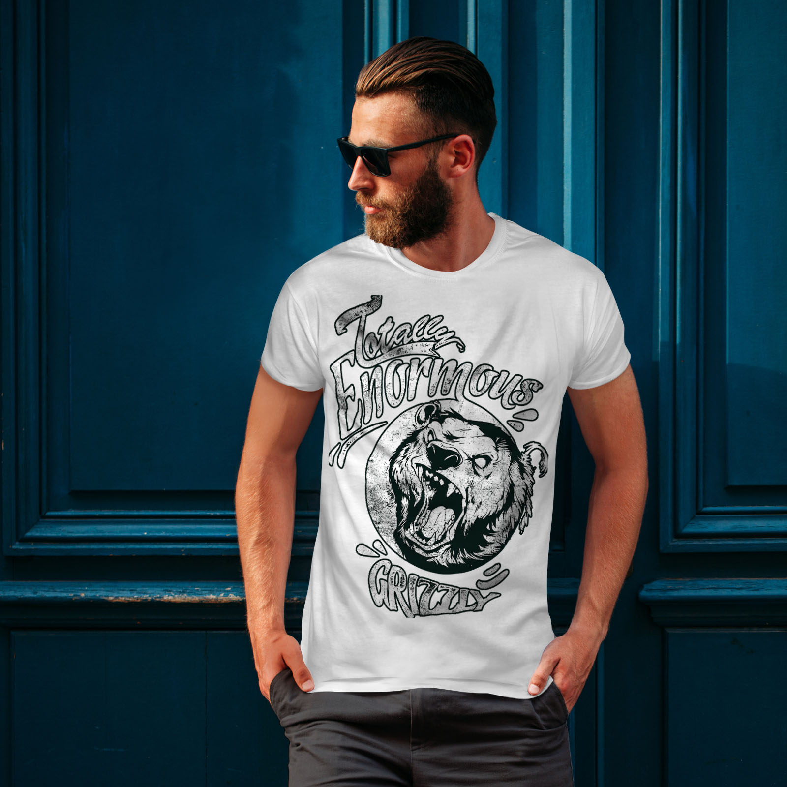 miniature 10 - Wellcoda Enormous Grizzly Bear Mens T-shirt, Totally Graphic Design Printed Tee