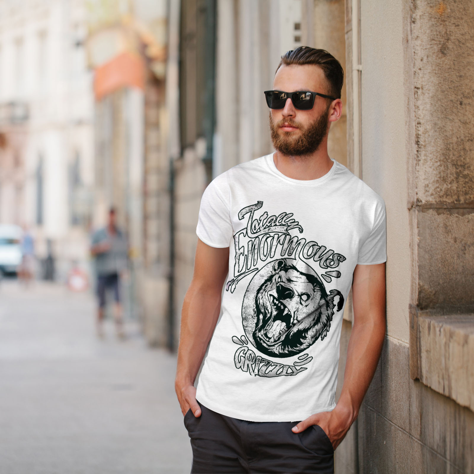 miniature 11 - Wellcoda Enormous Grizzly Bear Mens T-shirt, Totally Graphic Design Printed Tee
