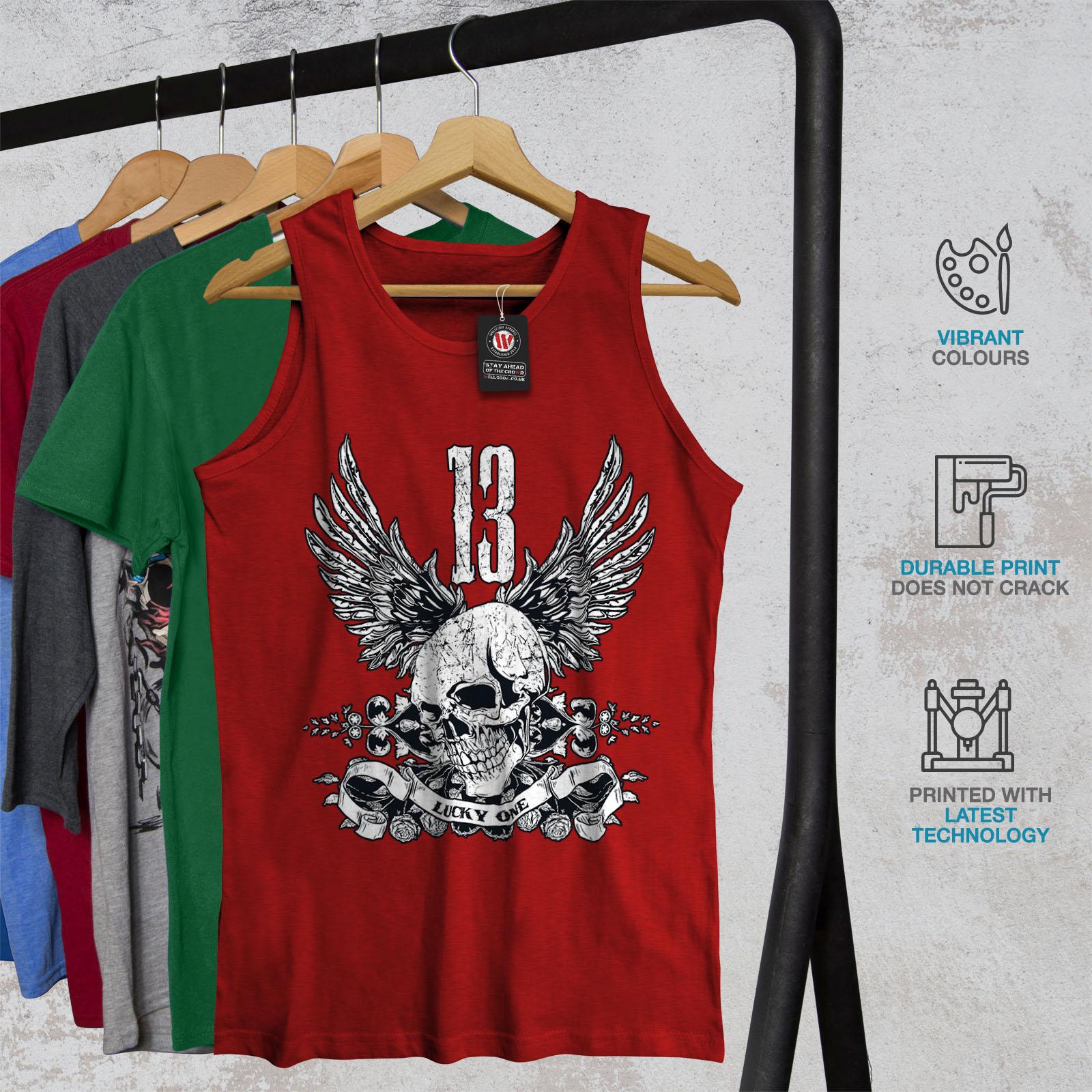 Lucky Active Sports Shirt Wellcoda Unlucky Number 13 Mens Tank Top