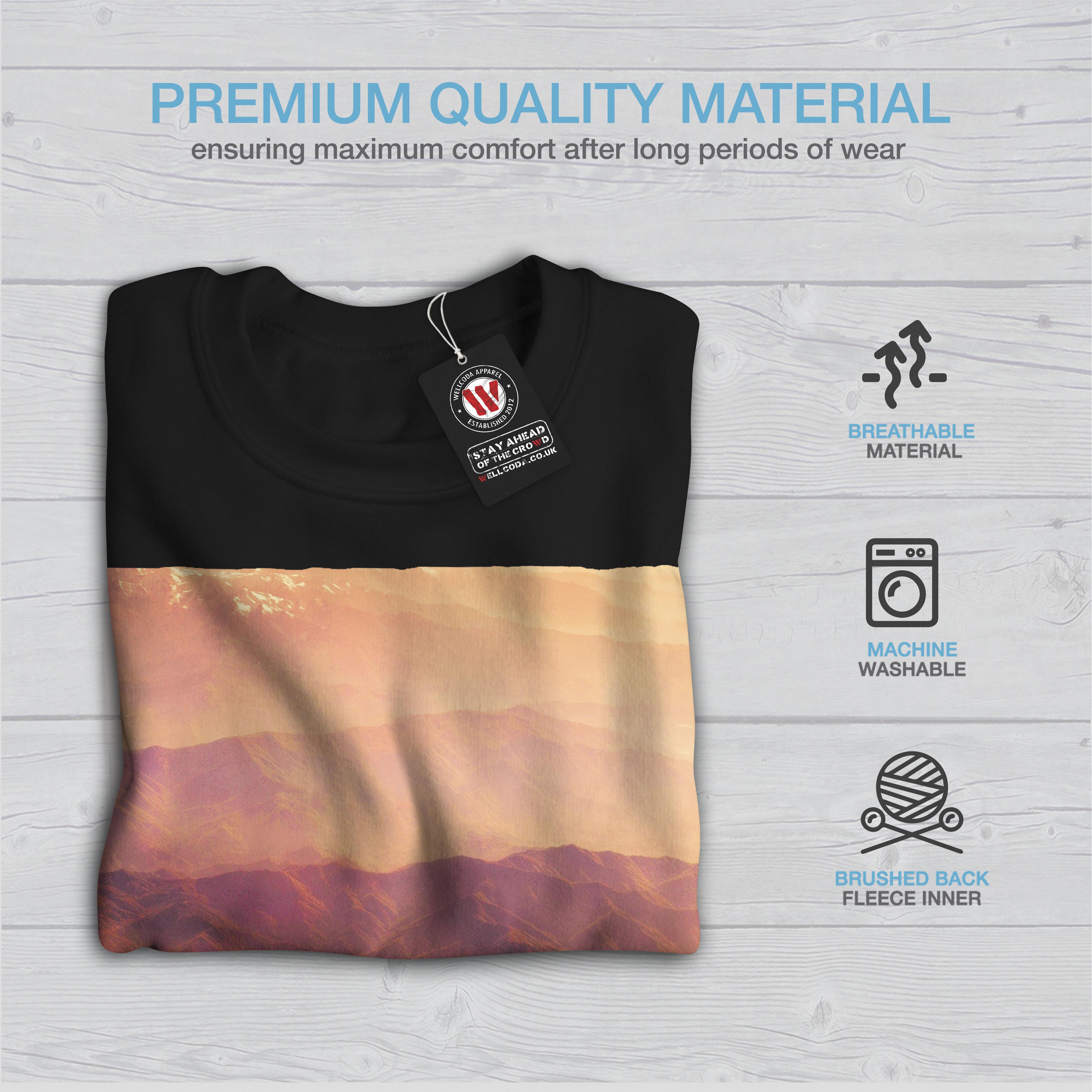 Sweatshirt Lava Mens Wellcoda Jumper Casual Pullover Black Ug0Fqw