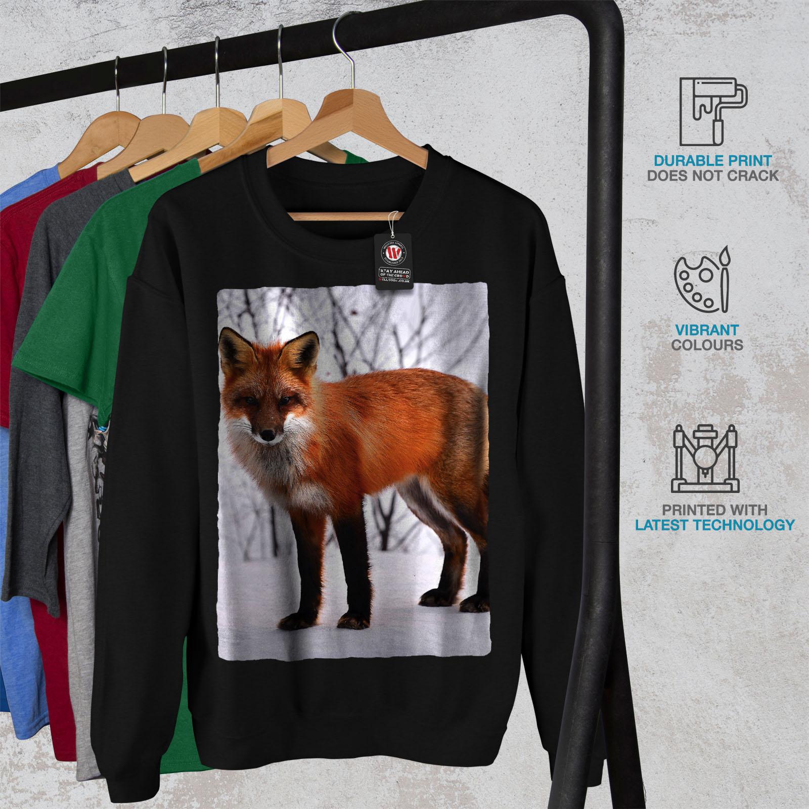 No Fox Beast Funny Animal Men Contrast Hoodie NEWWellcoda