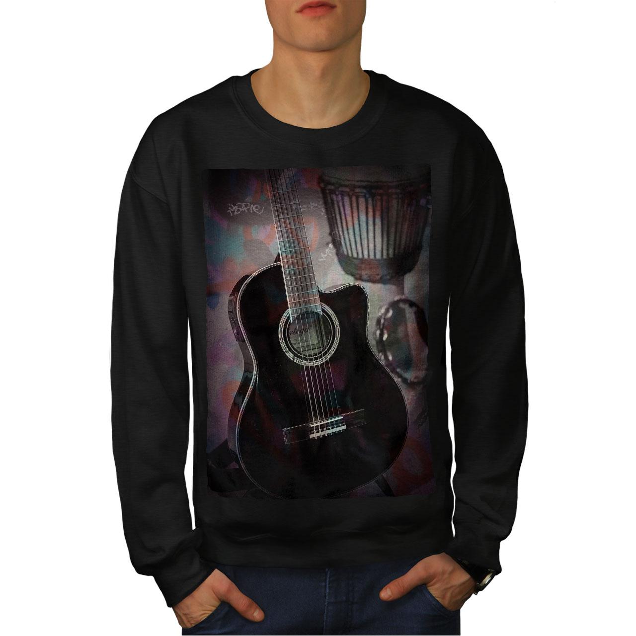 City Casual Jumper wellcoda Guitar City Art Music Mens Sweatshirt