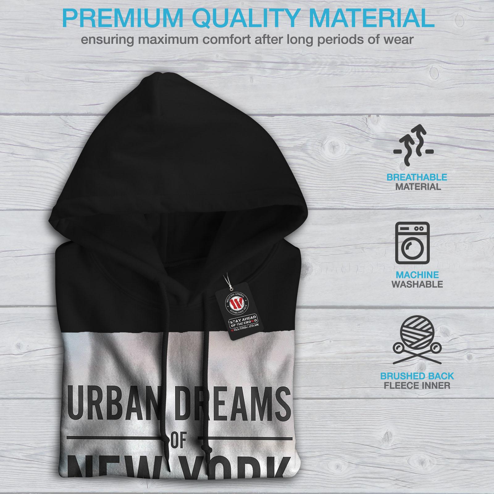 New Casual Mens Wellcoda Hoodie Sweatshirt Urban Hooded Black Tx4wzd6
