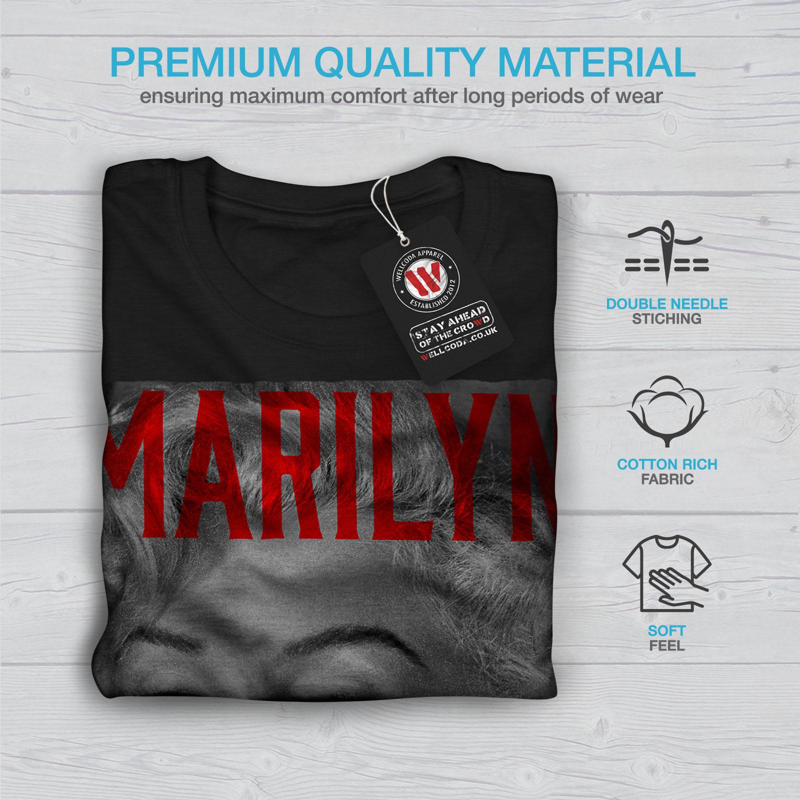 Wellcoda-Marilyn-Retro-Photo-Mens-T-shirt-Urban-Graphic-Design-Printed-Tee thumbnail 7