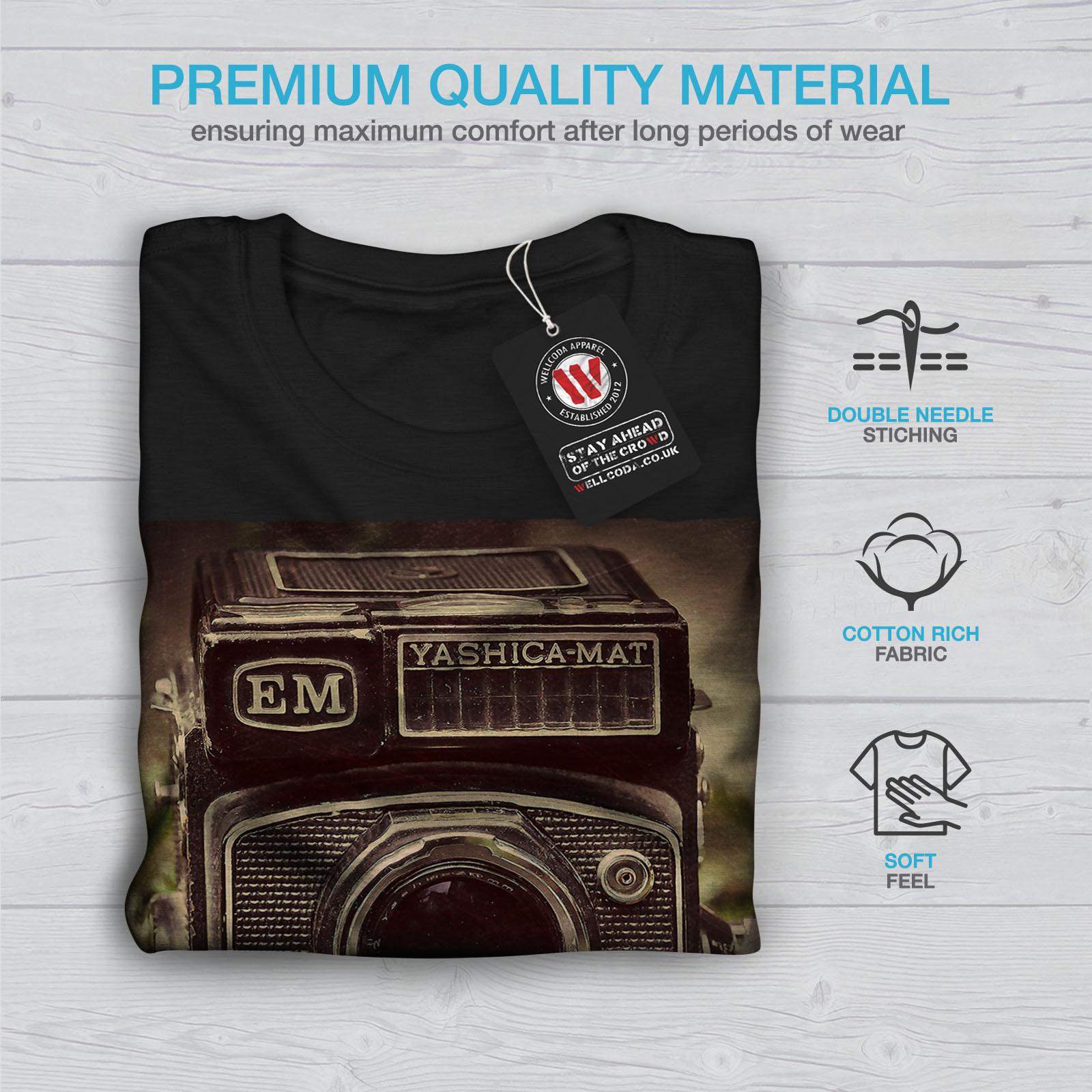 Wellcoda-Old-Foto-Camera-Mens-T-shirt-Retro-Graphic-Design-Printed-Tee thumbnail 7