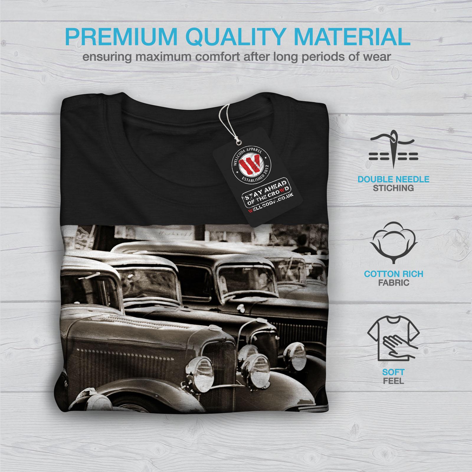 Wellcoda-Classic-Cars-Mens-T-shirt-Retro-Graphic-Design-Printed-Tee thumbnail 7