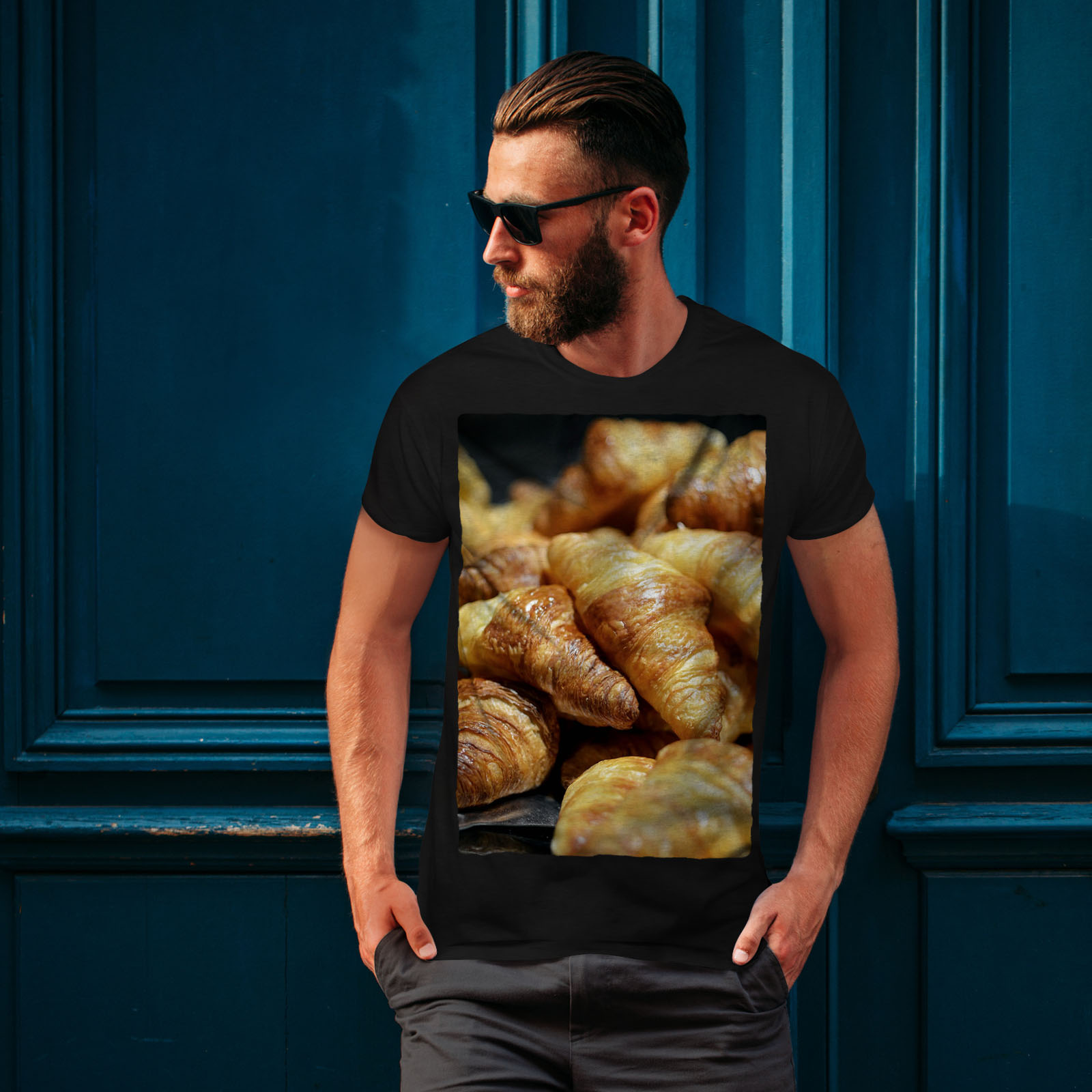 miniature 4 - Wellcoda Bakery Kitchen Sweet Mens T-shirt, Dessert Graphic Design Printed Tee