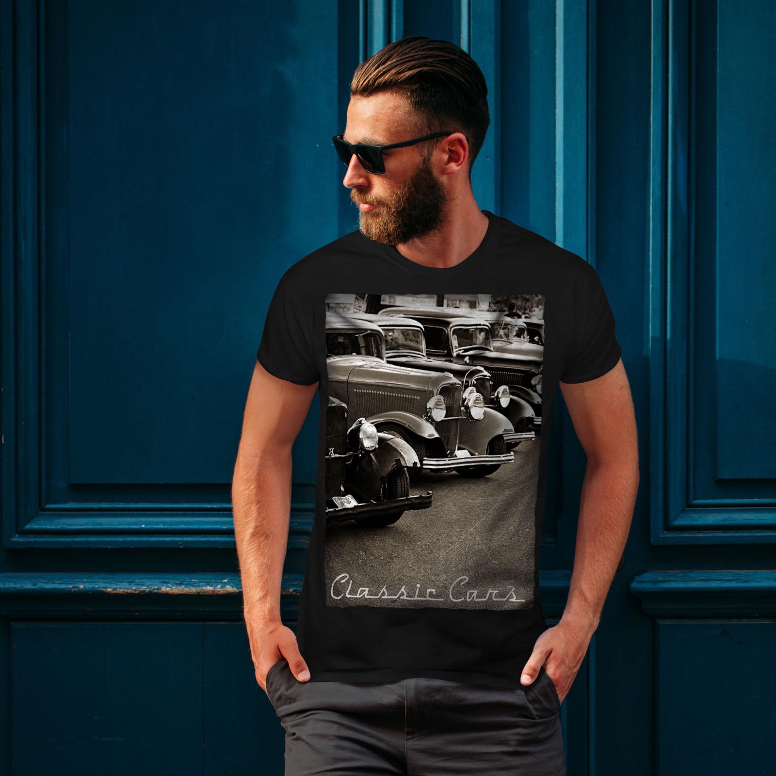 Wellcoda-Classic-Cars-Mens-T-shirt-Retro-Graphic-Design-Printed-Tee thumbnail 4