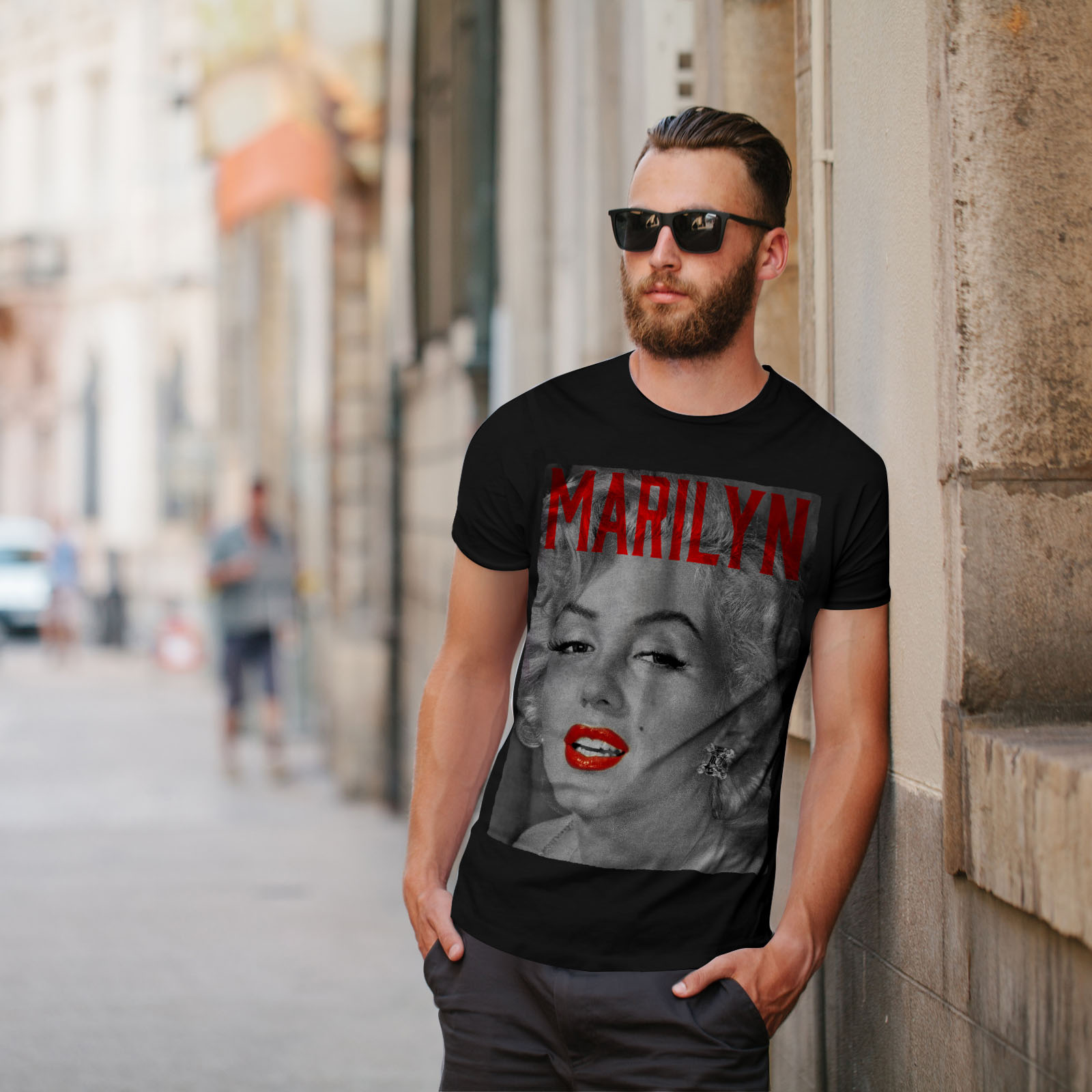 Wellcoda-Marilyn-Retro-Photo-Mens-T-shirt-Urban-Graphic-Design-Printed-Tee thumbnail 5