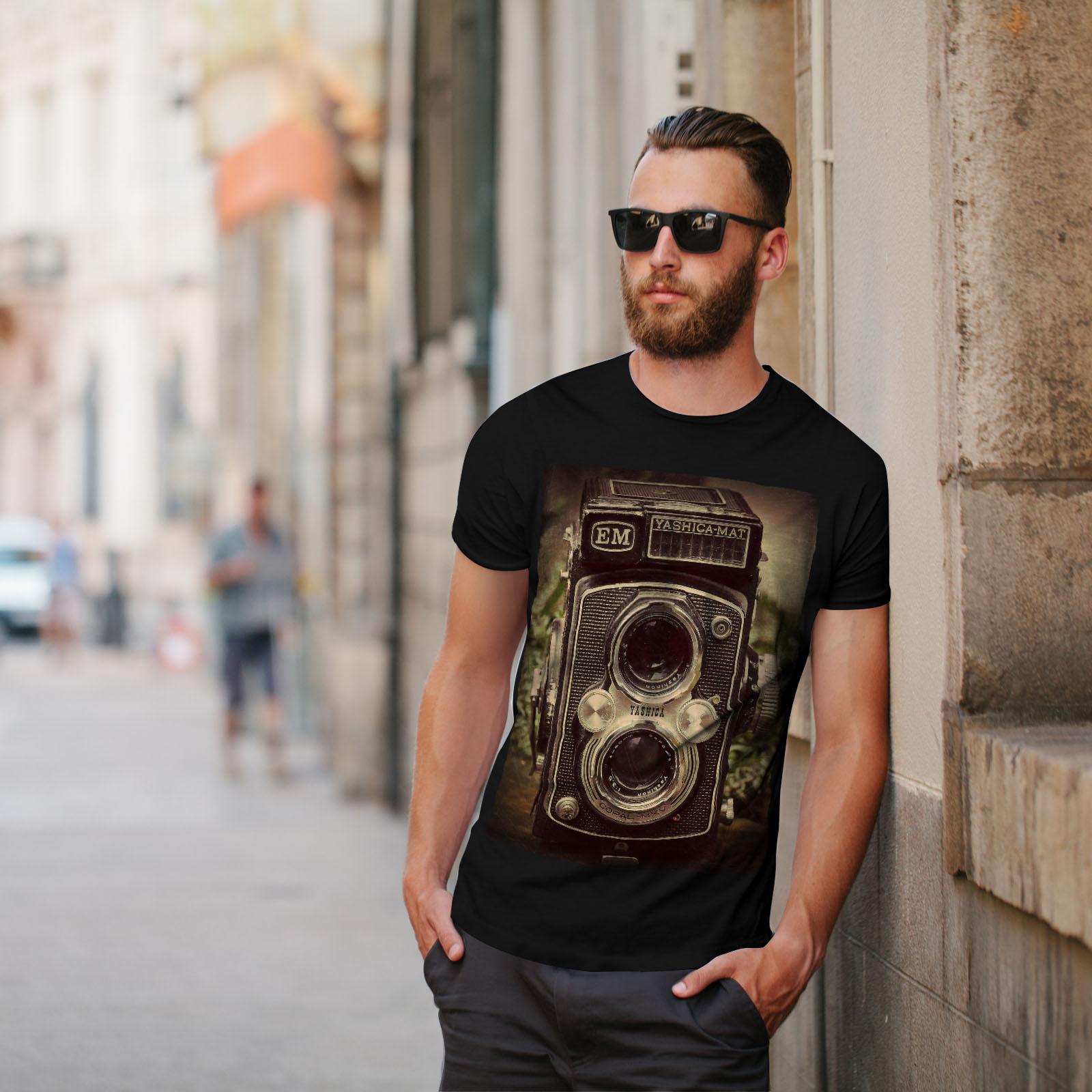 Wellcoda-Old-Foto-Camera-Mens-T-shirt-Retro-Graphic-Design-Printed-Tee thumbnail 5