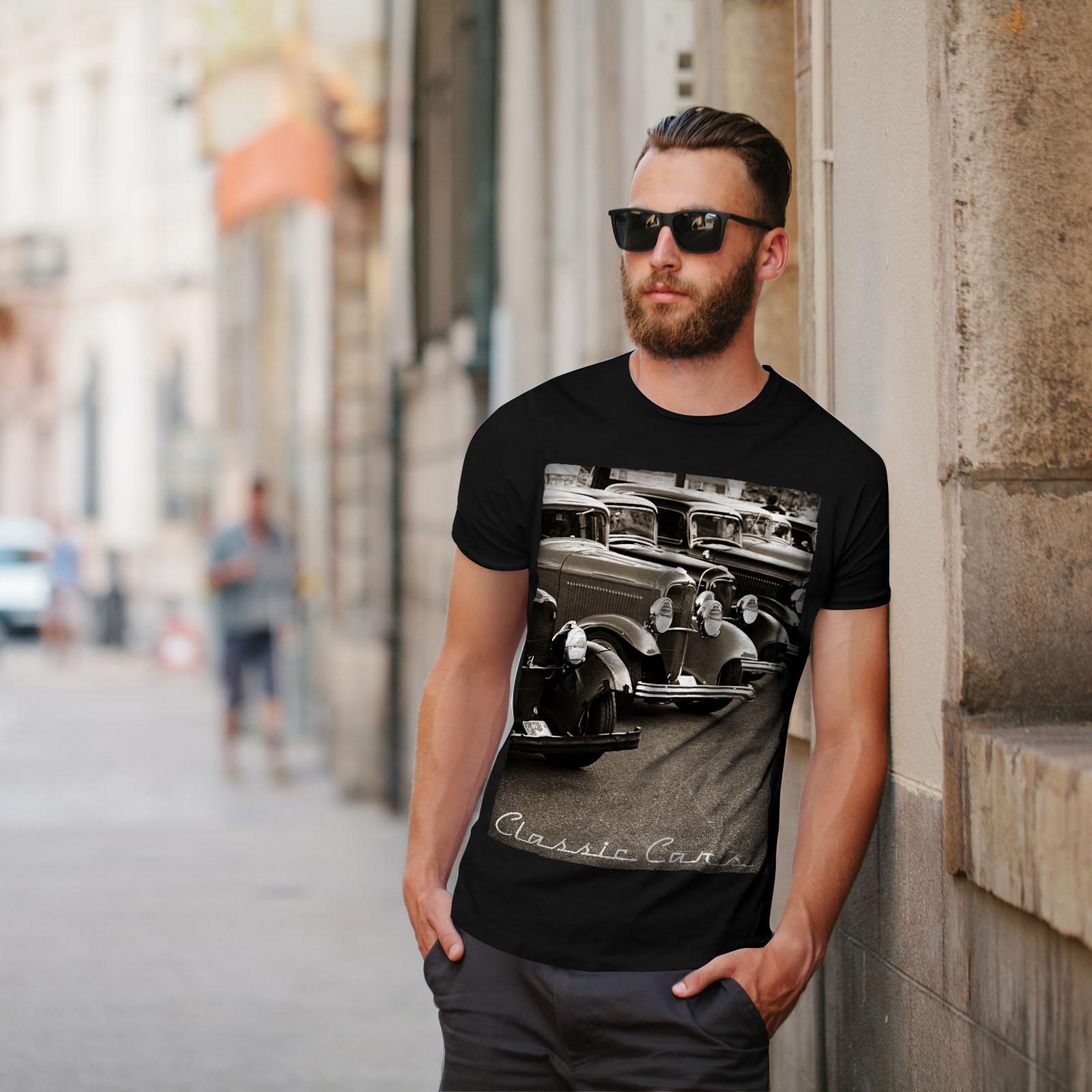Wellcoda-Classic-Cars-Mens-T-shirt-Retro-Graphic-Design-Printed-Tee thumbnail 5