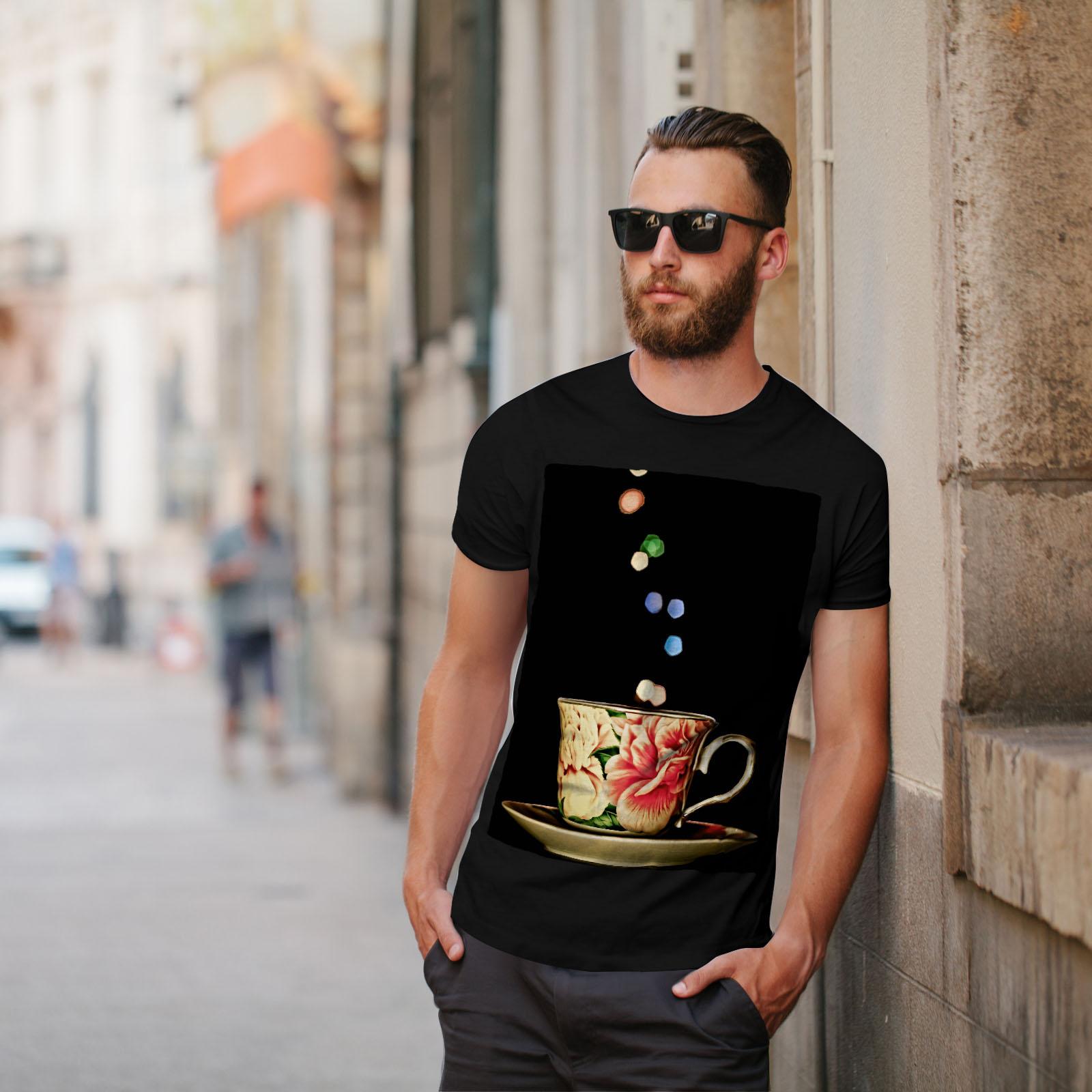 Wellcoda-Tea-Cup-Retro-Old-Mens-T-shirt-Smell-Graphic-Design-Printed-Tee thumbnail 5