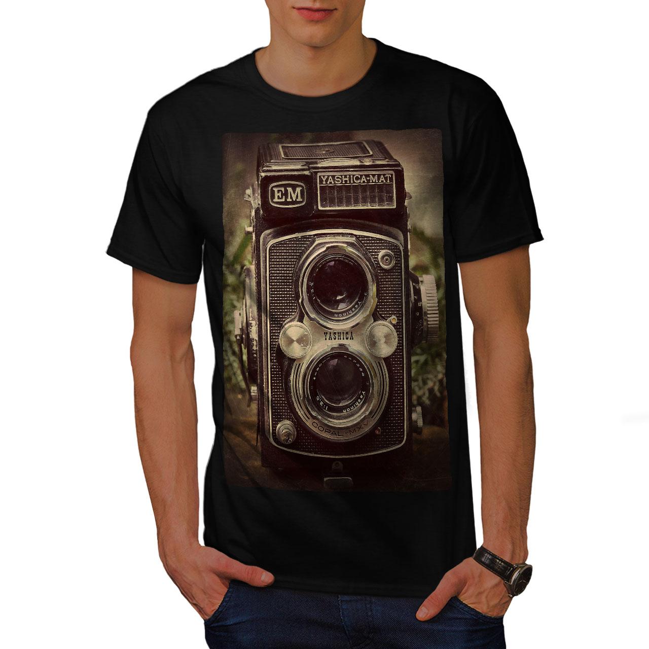 Wellcoda-Old-Foto-Camera-Mens-T-shirt-Retro-Graphic-Design-Printed-Tee thumbnail 3