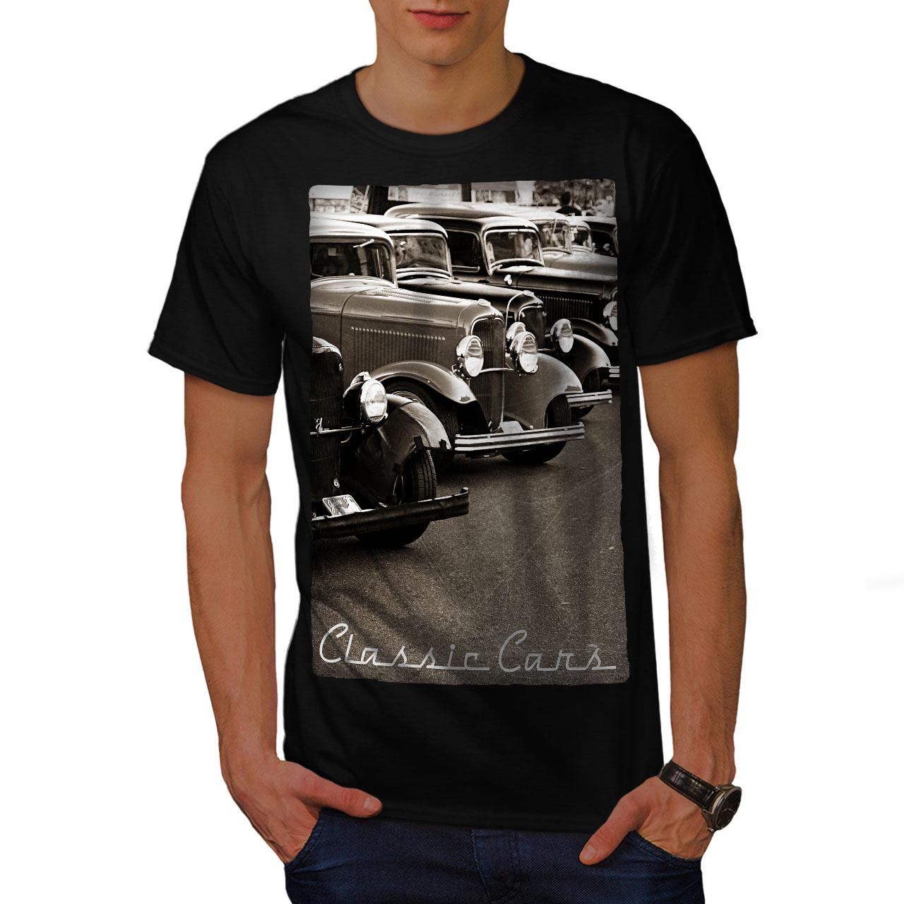 Wellcoda-Classic-Cars-Mens-T-shirt-Retro-Graphic-Design-Printed-Tee thumbnail 3