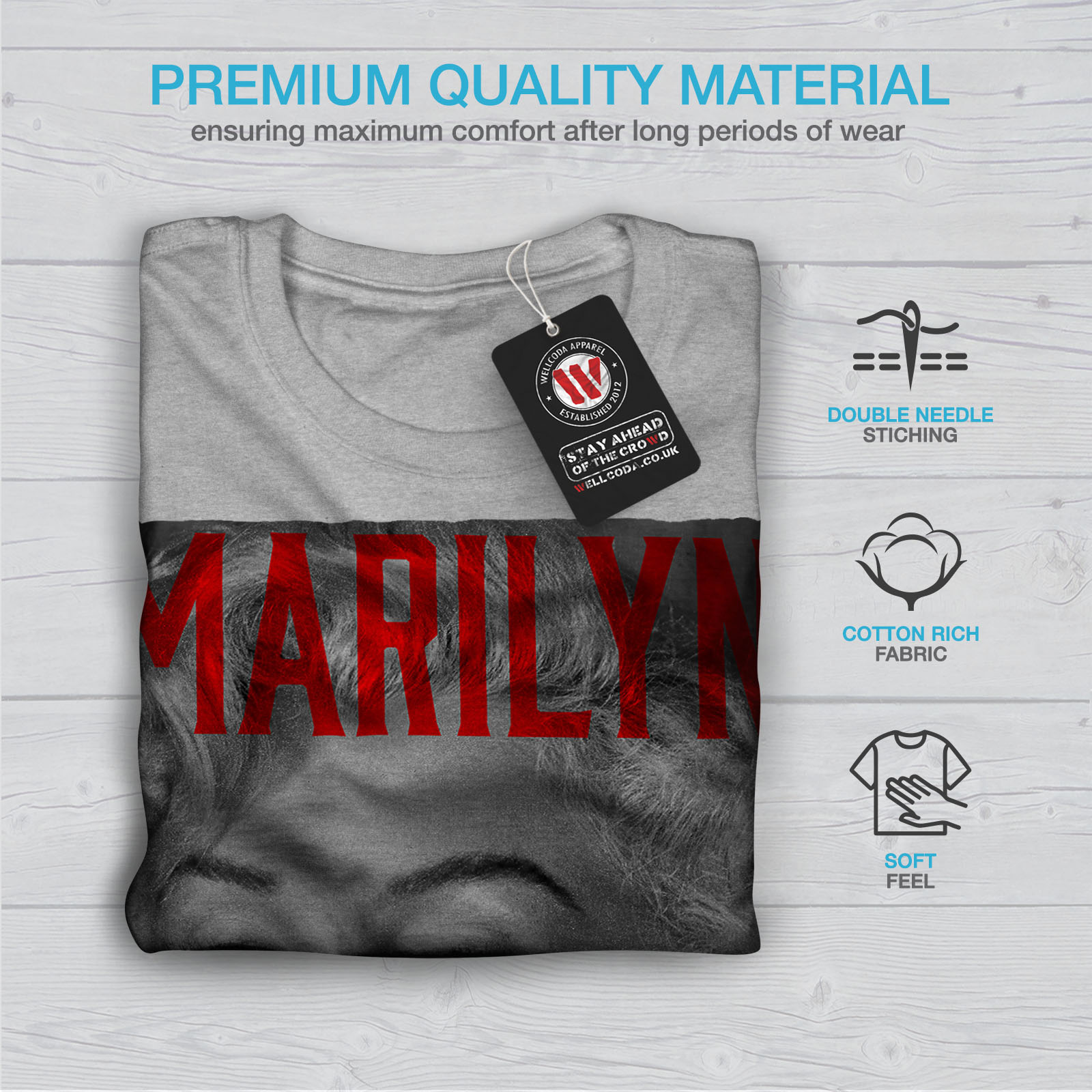 Wellcoda-Marilyn-Retro-Photo-Mens-T-shirt-Urban-Graphic-Design-Printed-Tee thumbnail 19