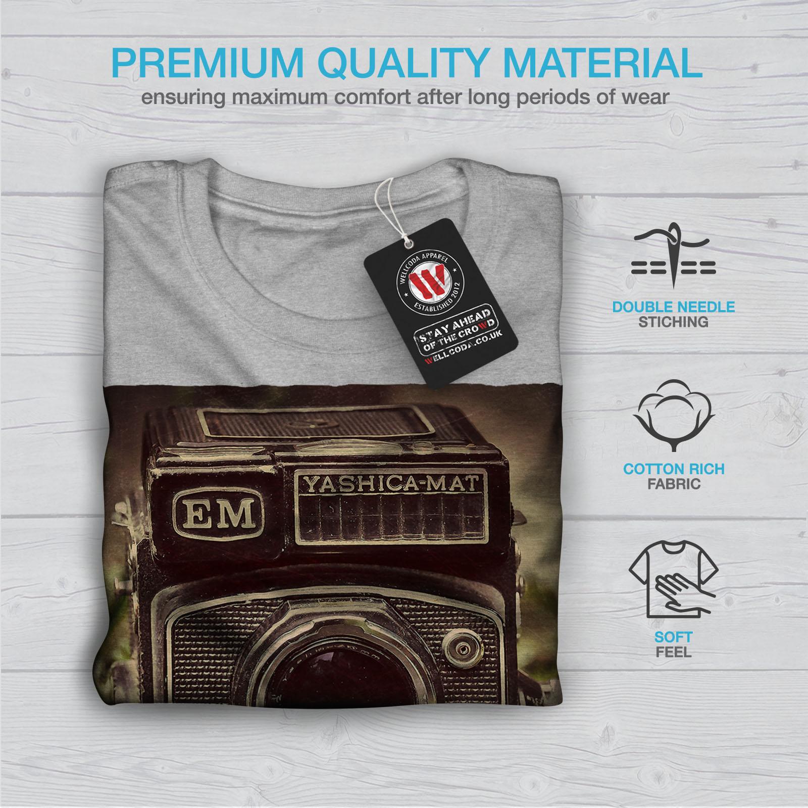 Wellcoda-Old-Foto-Camera-Mens-T-shirt-Retro-Graphic-Design-Printed-Tee thumbnail 19