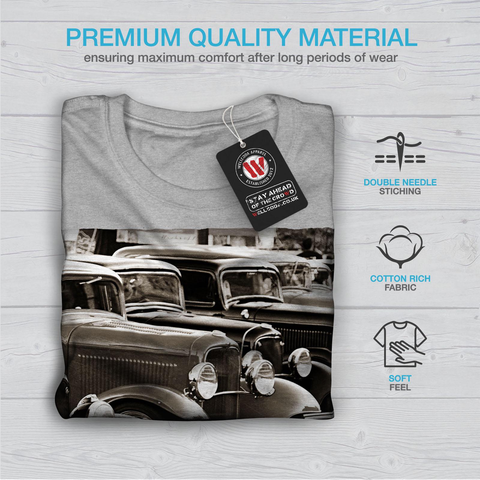 Wellcoda-Classic-Cars-Mens-T-shirt-Retro-Graphic-Design-Printed-Tee thumbnail 19