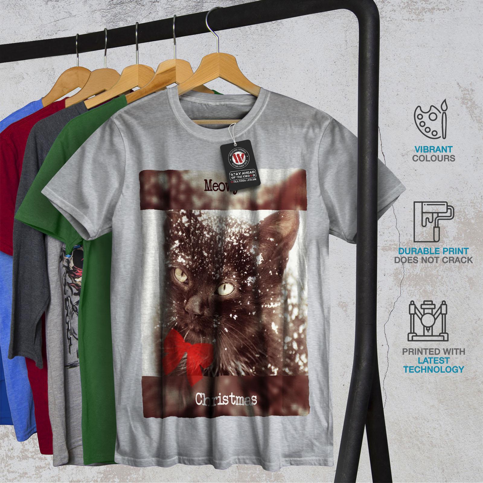 Wellcoda meowy Chat Mignon Kitty T-shirt homme, meowy Wellcoda conception graphique imprimé Tee 6d7ffd