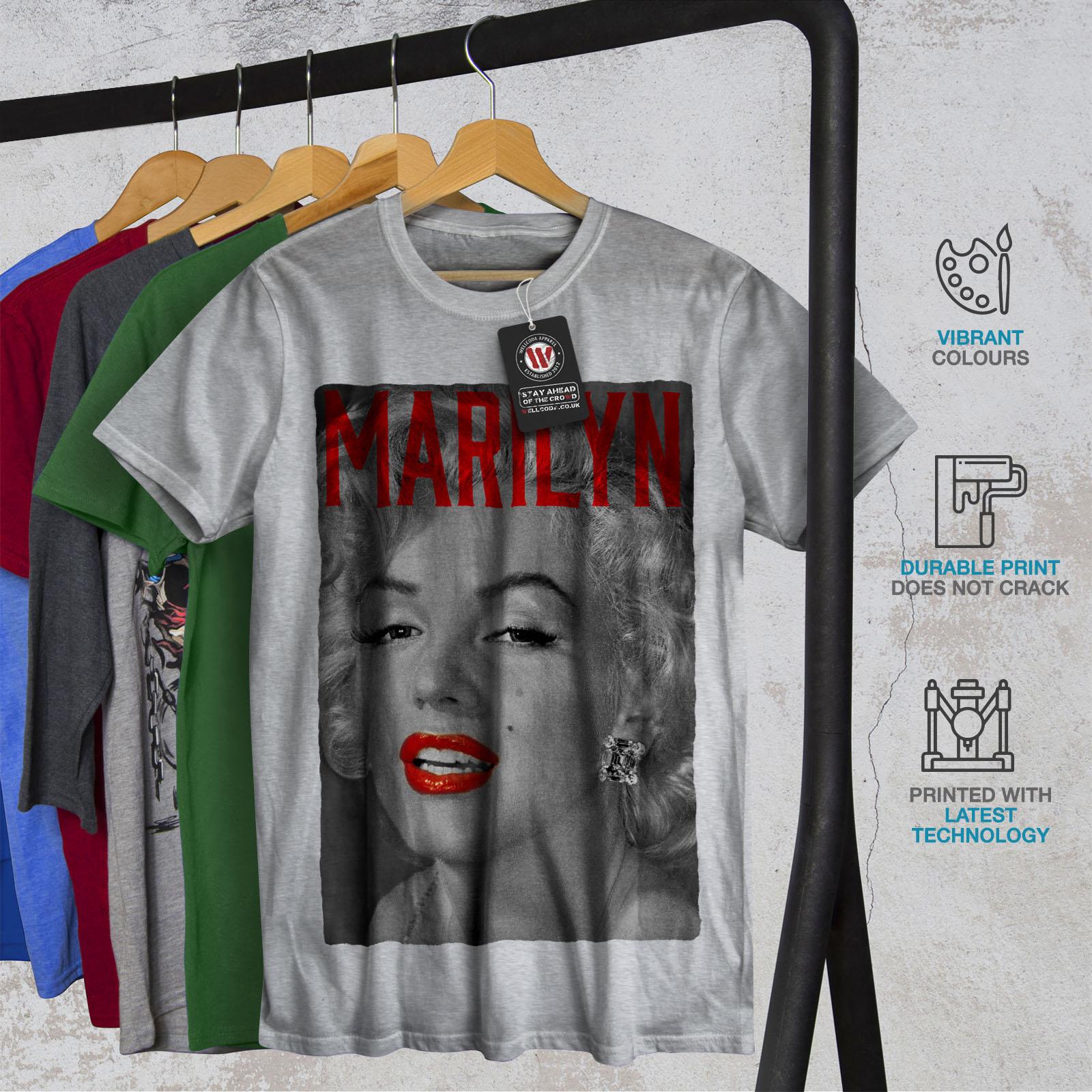 Wellcoda-Marilyn-Retro-Photo-Mens-T-shirt-Urban-Graphic-Design-Printed-Tee thumbnail 18