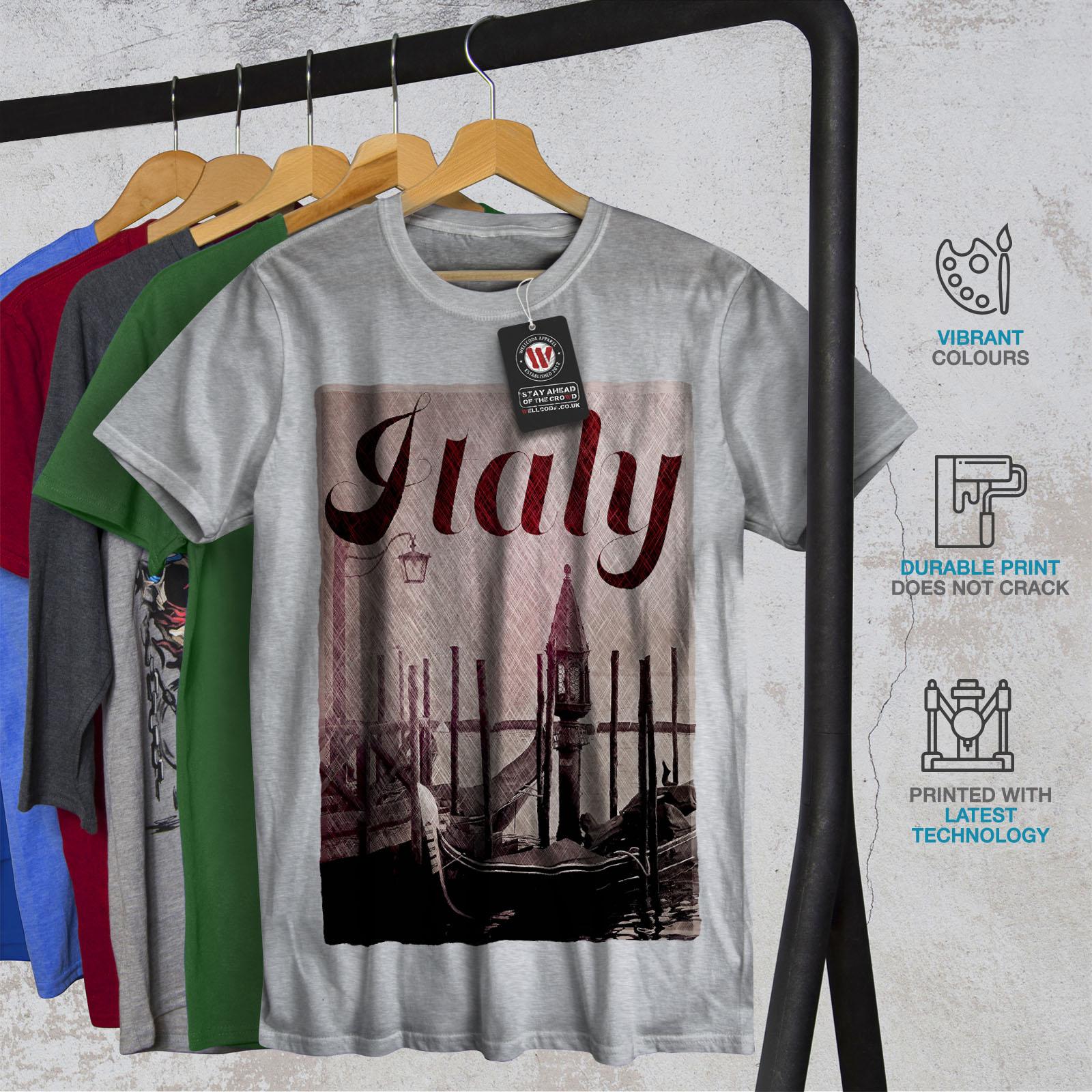 Italian Active Sports Shirt Wellcoda Italy Venice Gondola Mens Tank Top