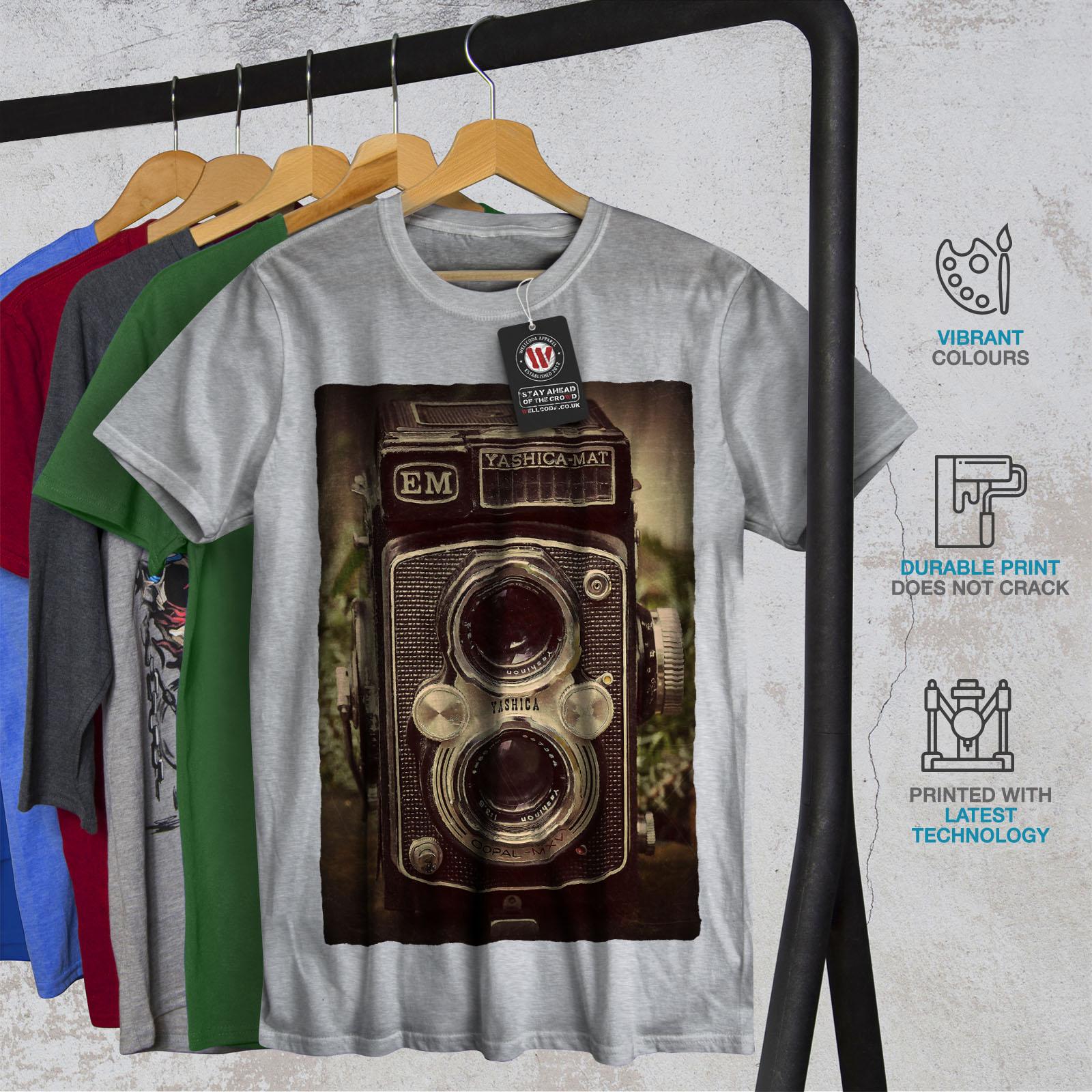 Wellcoda-Old-Foto-Camera-Mens-T-shirt-Retro-Graphic-Design-Printed-Tee thumbnail 18