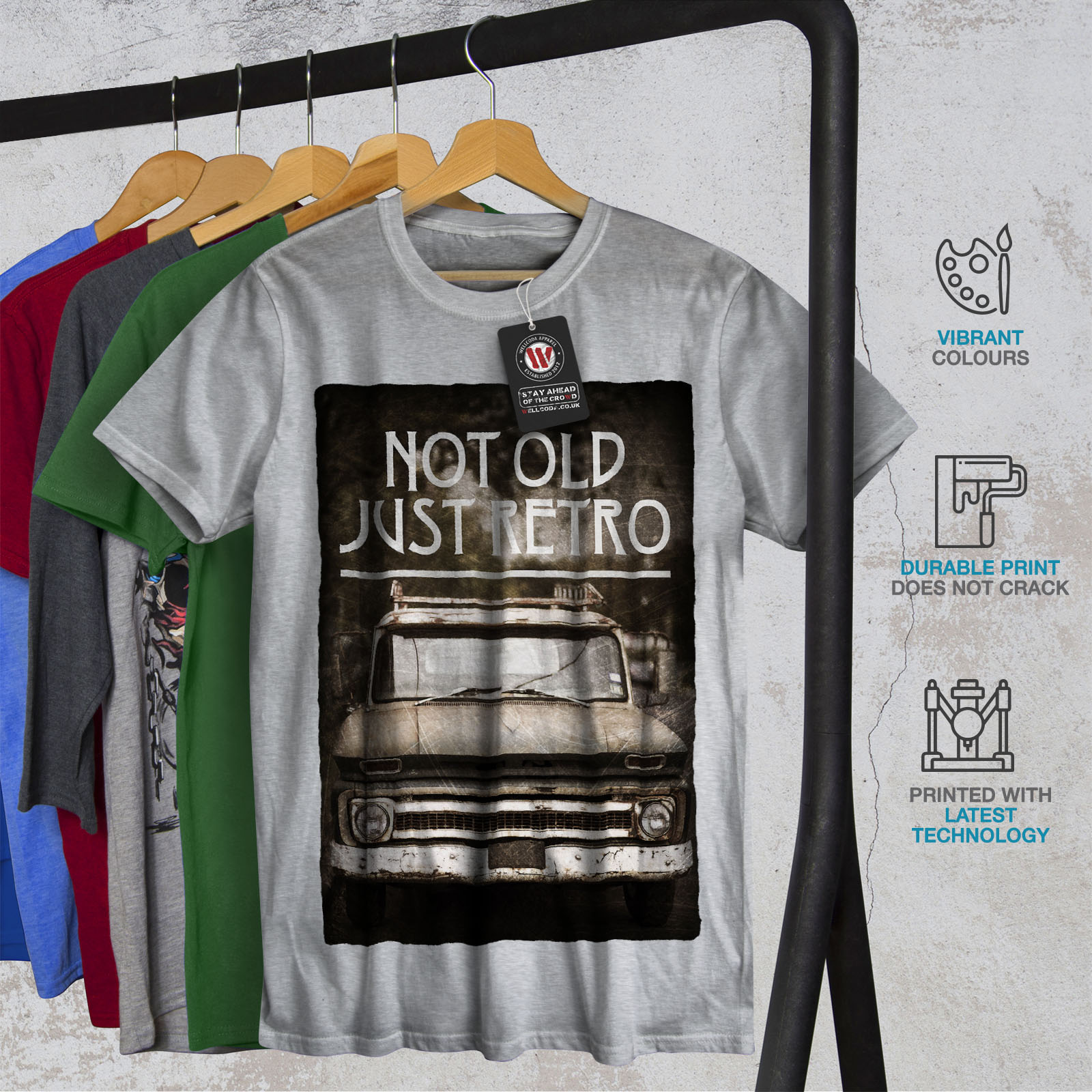 Wellcoda-Not-Old-Retro-Car-Mens-T-shirt-Retro-Graphic-Design-Printed-Tee thumbnail 18