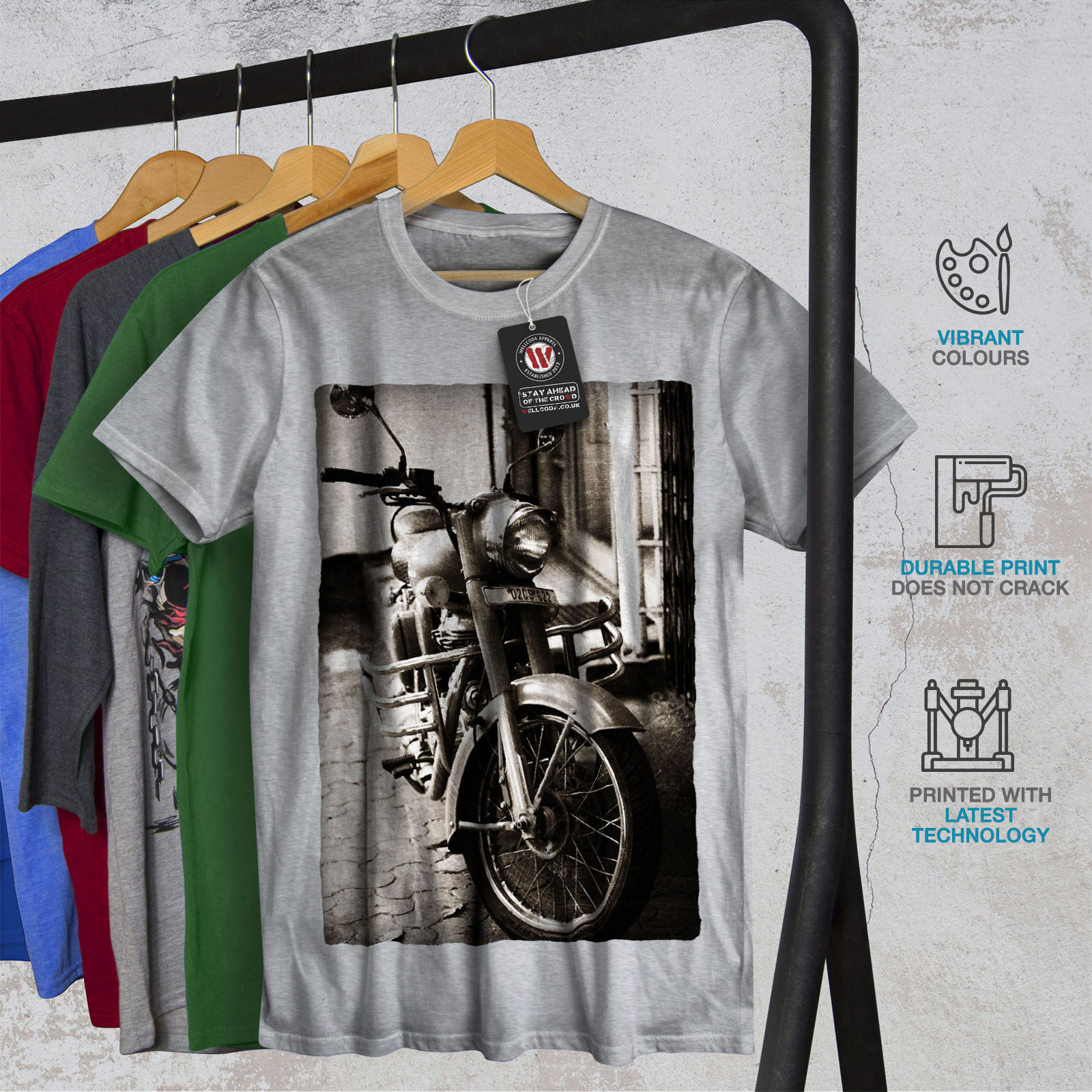 Wellcoda-Old-Retro-Mens-T-shirt-Motorcycle-Graphic-Design-Printed-Tee thumbnail 18