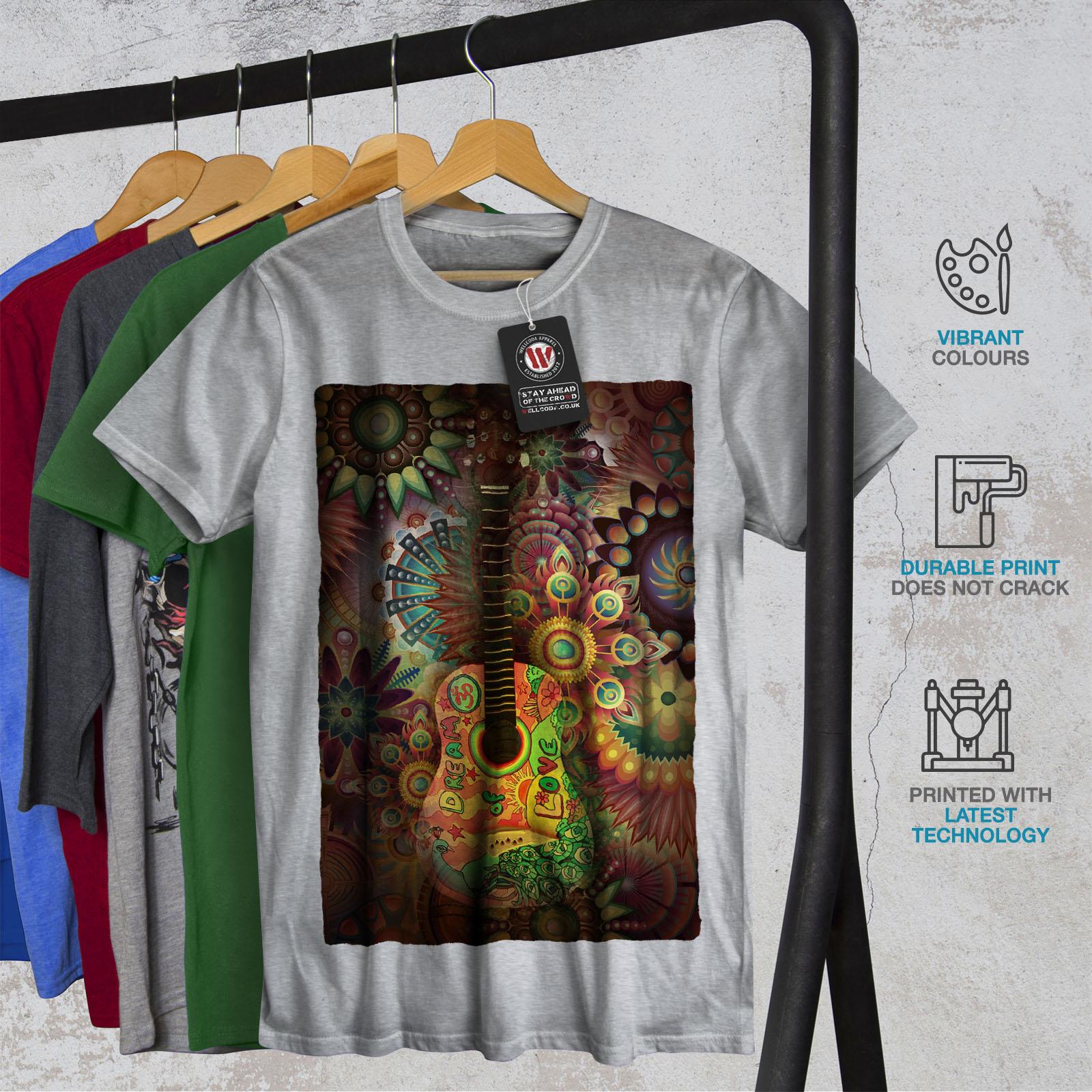 Wellcoda-Colorful-Guitar-Mens-T-shirt-Music-Graphic-Design-Printed-Tee thumbnail 18