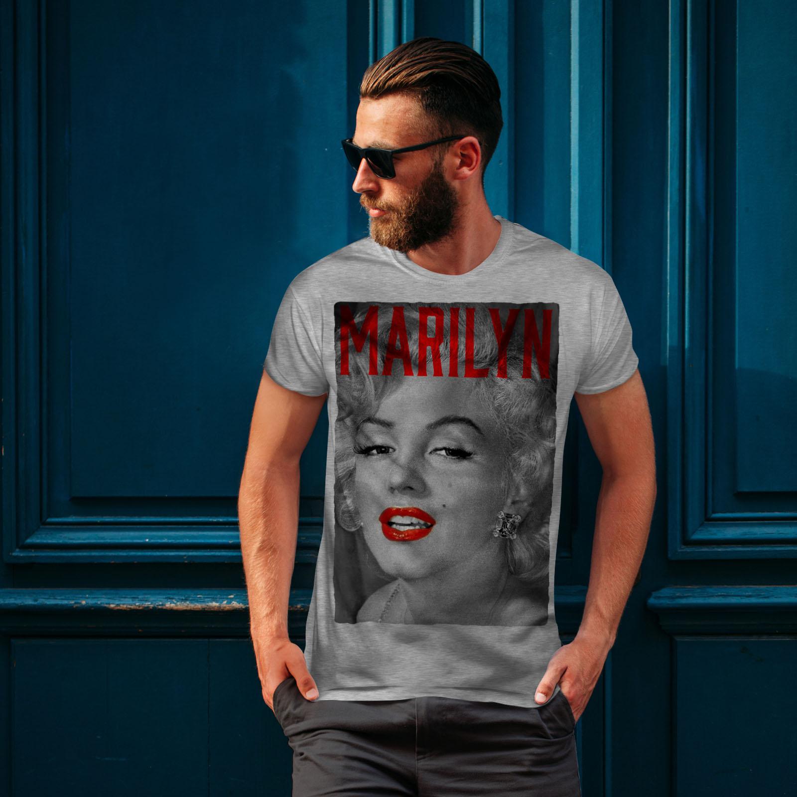 Wellcoda-Marilyn-Retro-Photo-Mens-T-shirt-Urban-Graphic-Design-Printed-Tee thumbnail 16