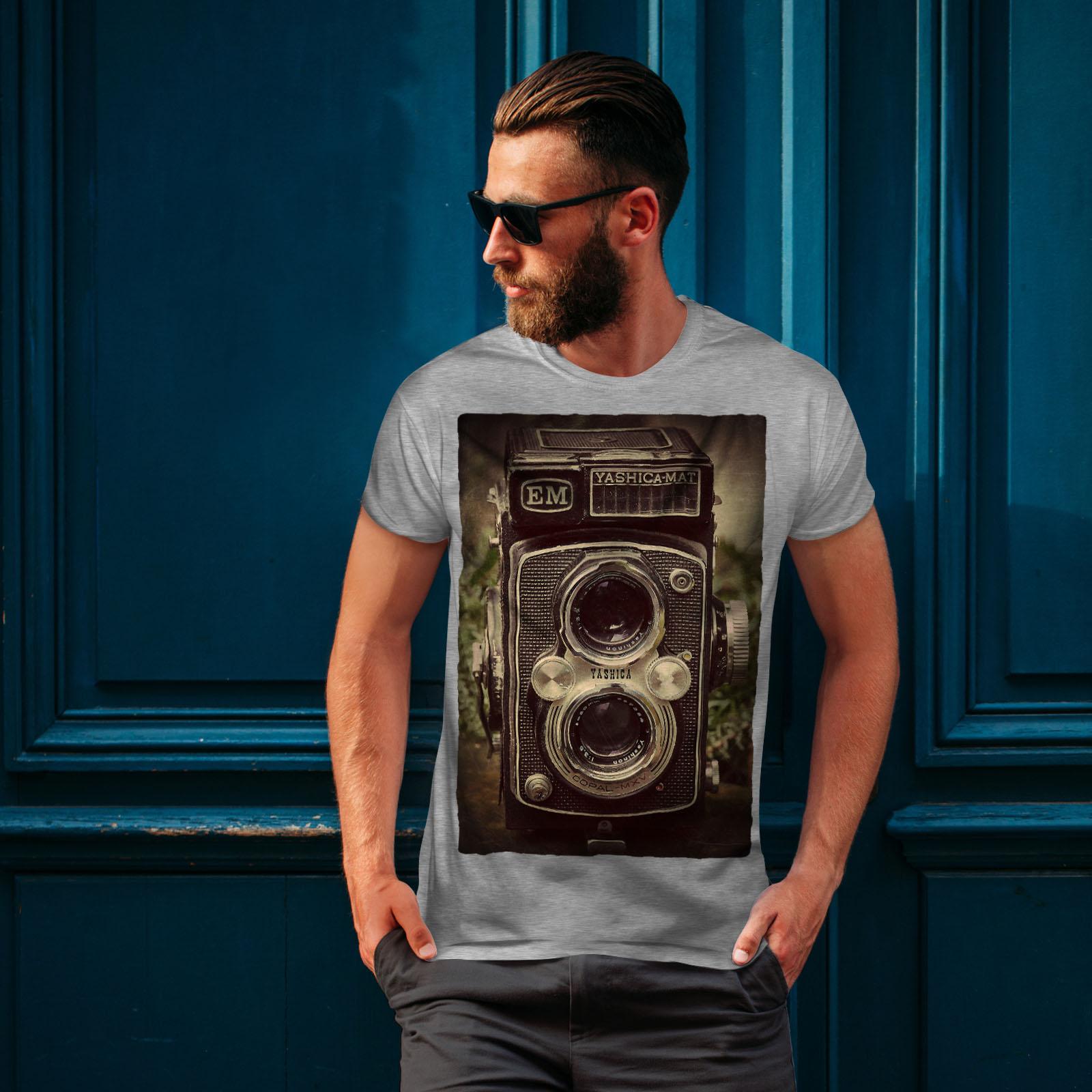 Wellcoda-Old-Foto-Camera-Mens-T-shirt-Retro-Graphic-Design-Printed-Tee thumbnail 16