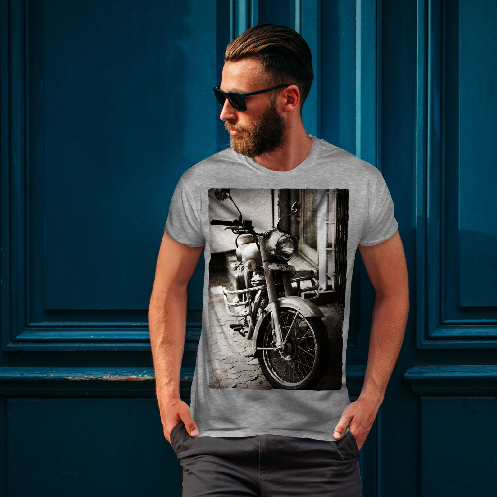 Wellcoda-Old-Retro-Mens-T-shirt-Motorcycle-Graphic-Design-Printed-Tee thumbnail 16