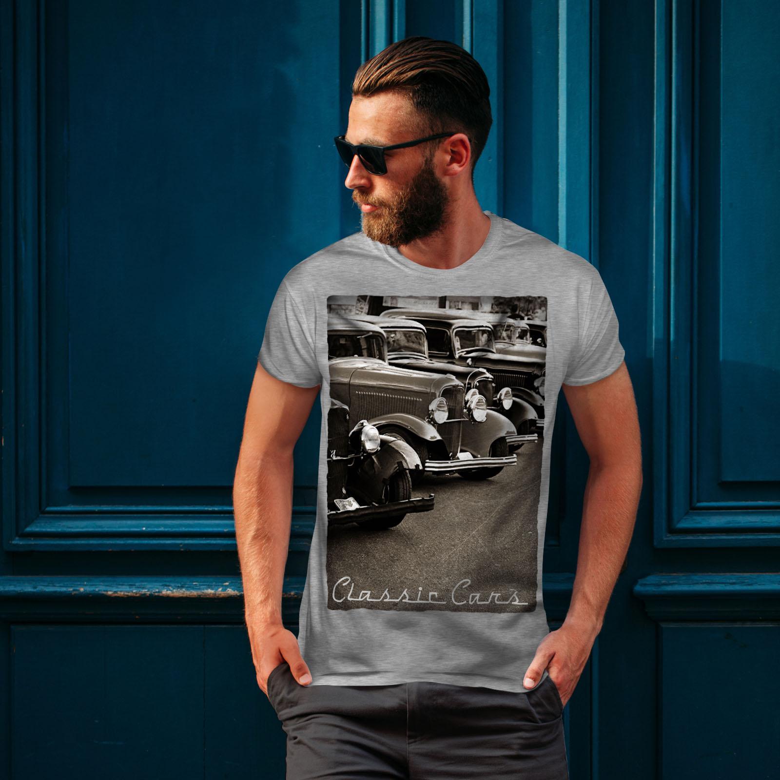 Wellcoda-Classic-Cars-Mens-T-shirt-Retro-Graphic-Design-Printed-Tee thumbnail 16