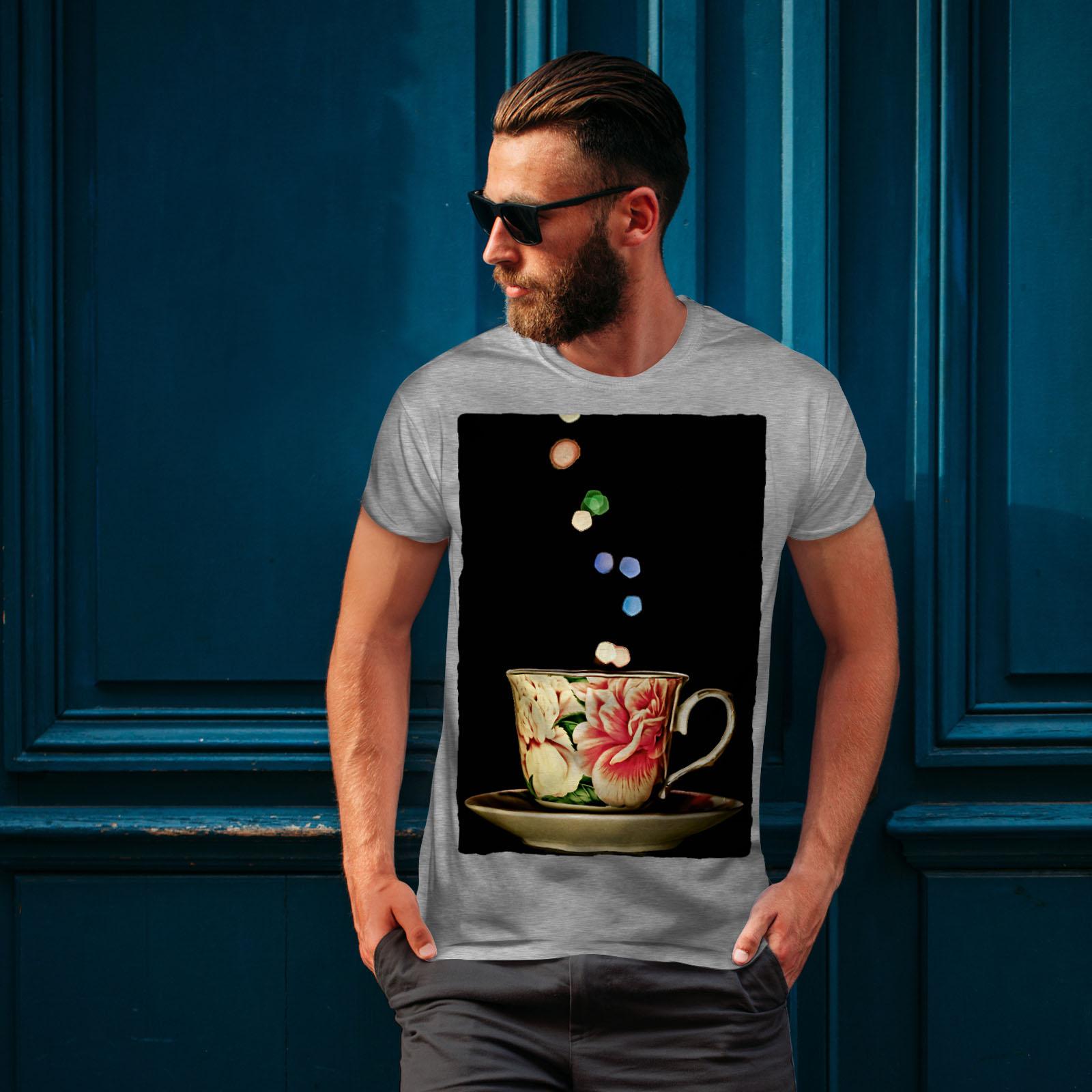 Wellcoda-Tea-Cup-Retro-Old-Mens-T-shirt-Smell-Graphic-Design-Printed-Tee thumbnail 16