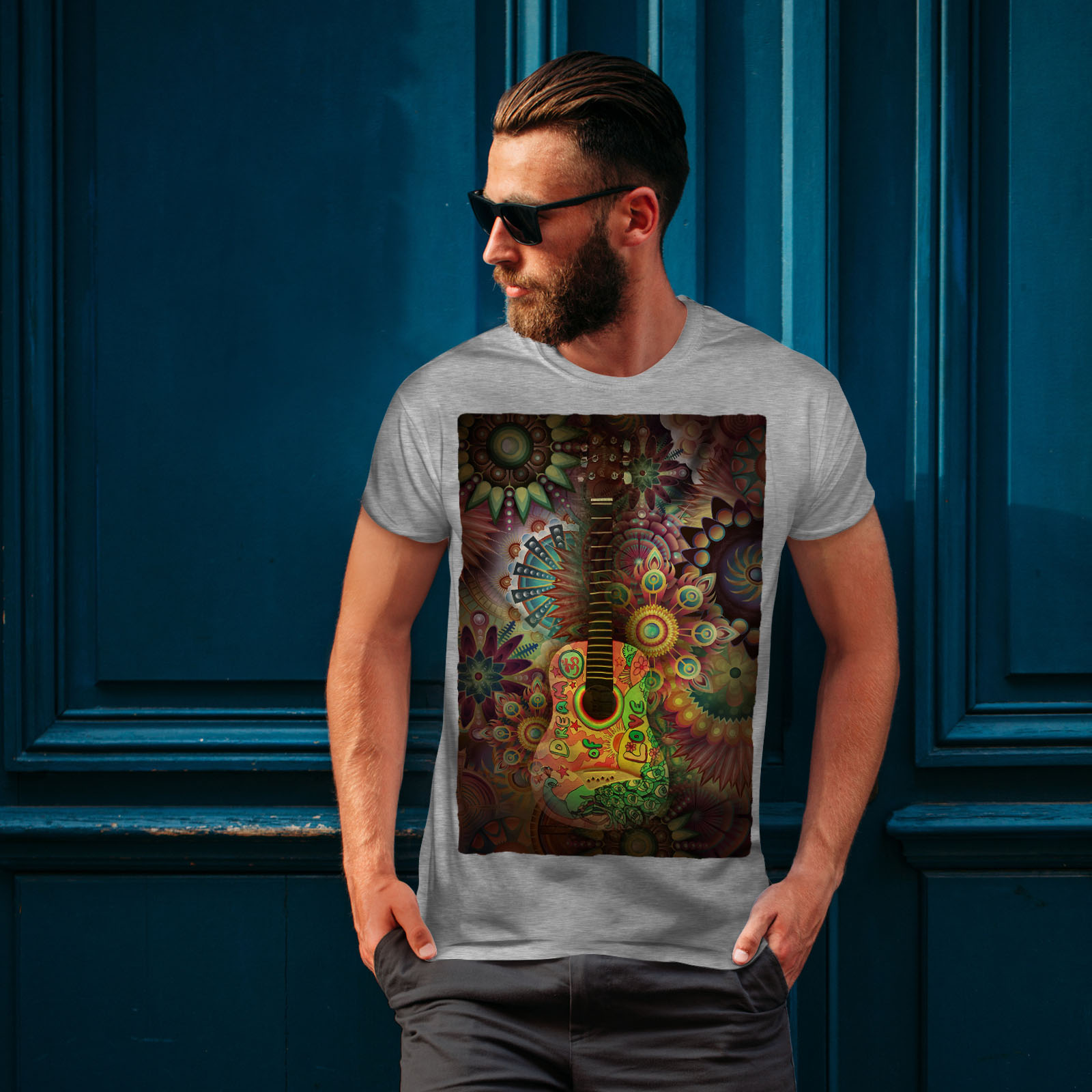 Wellcoda-Colorful-Guitar-Mens-T-shirt-Music-Graphic-Design-Printed-Tee thumbnail 16