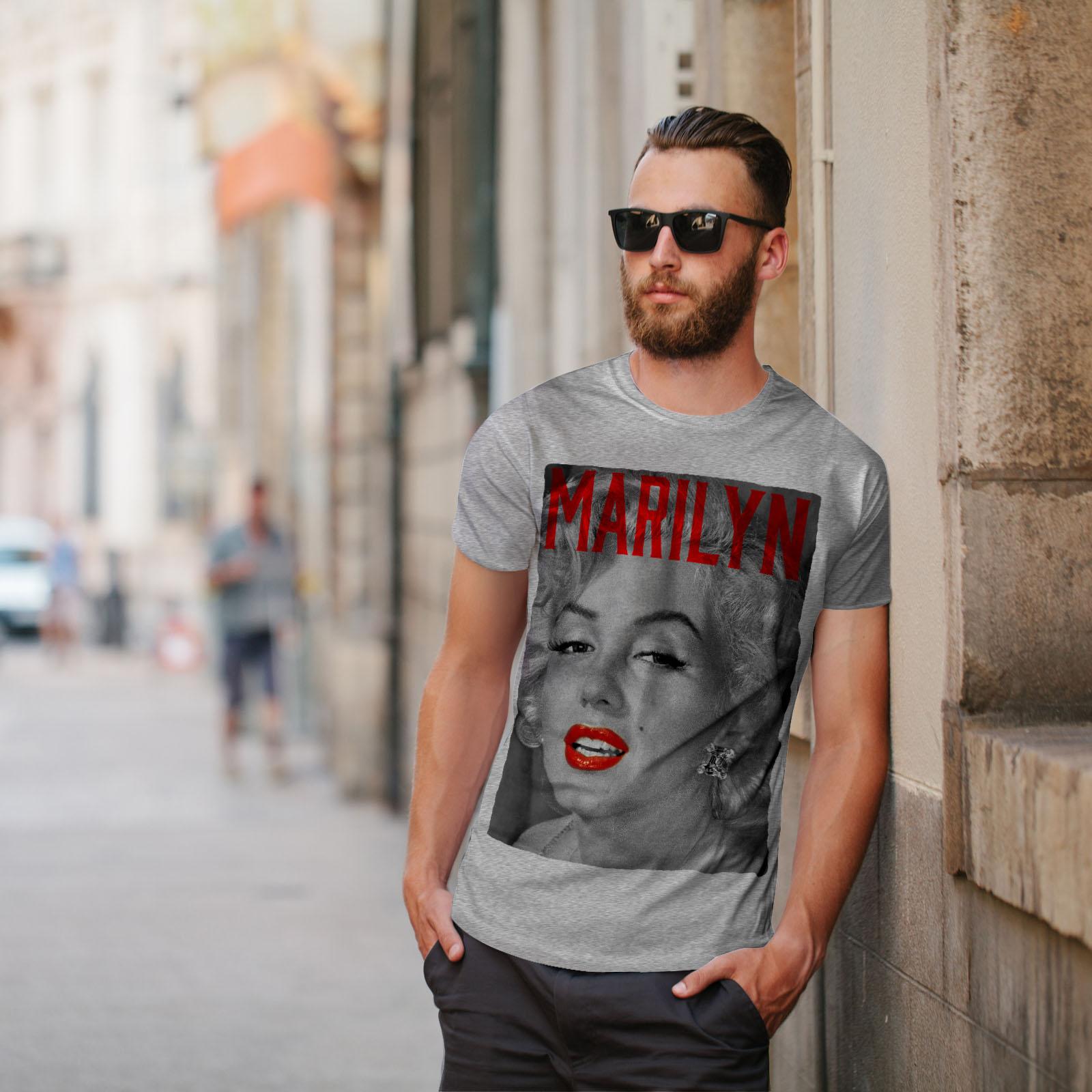 Wellcoda-Marilyn-Retro-Photo-Mens-T-shirt-Urban-Graphic-Design-Printed-Tee thumbnail 17