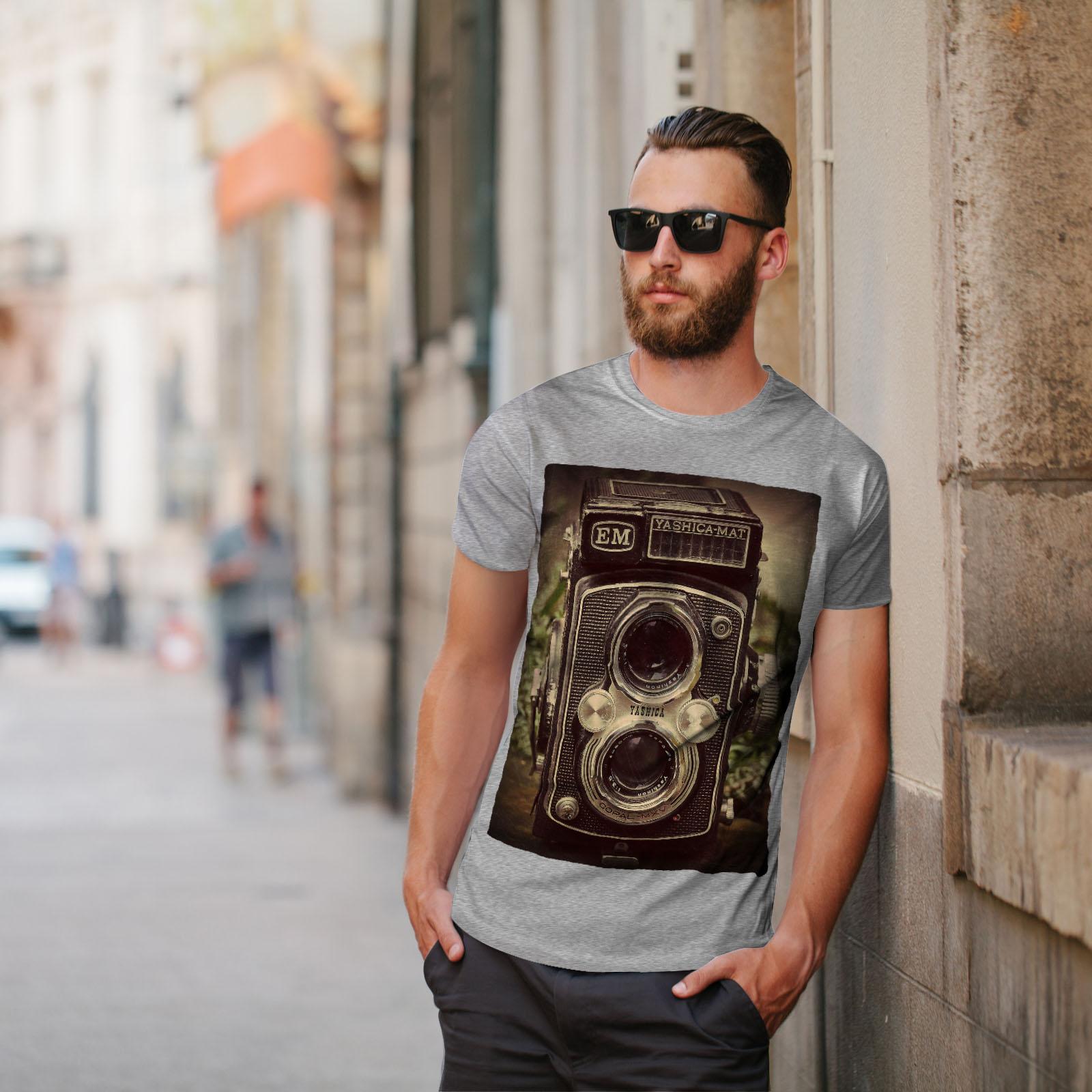 Wellcoda-Old-Foto-Camera-Mens-T-shirt-Retro-Graphic-Design-Printed-Tee thumbnail 17