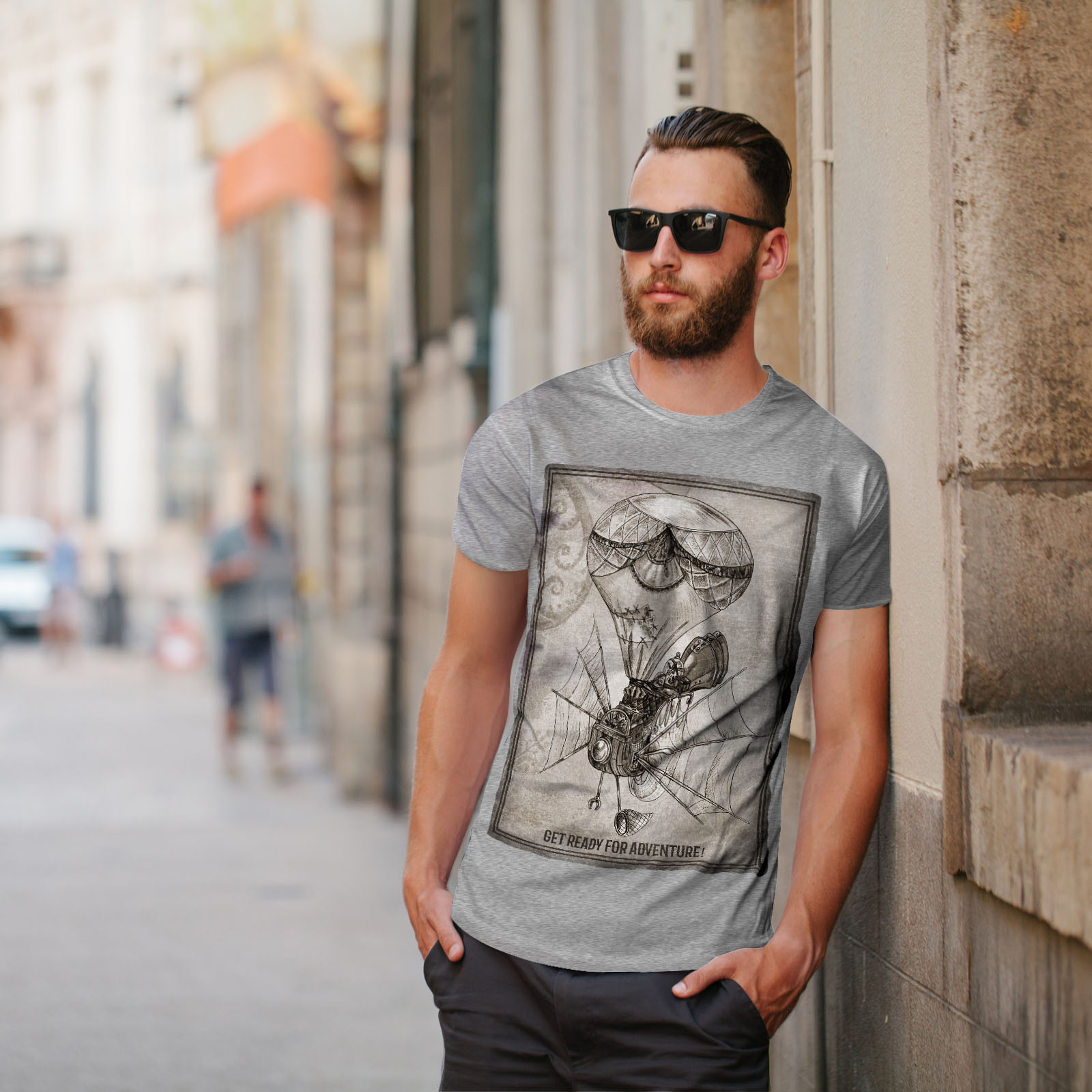 Wellcoda-Adventure-Hipster-Mens-T-shirt-Adventure-Graphic-Design-Printed-Tee