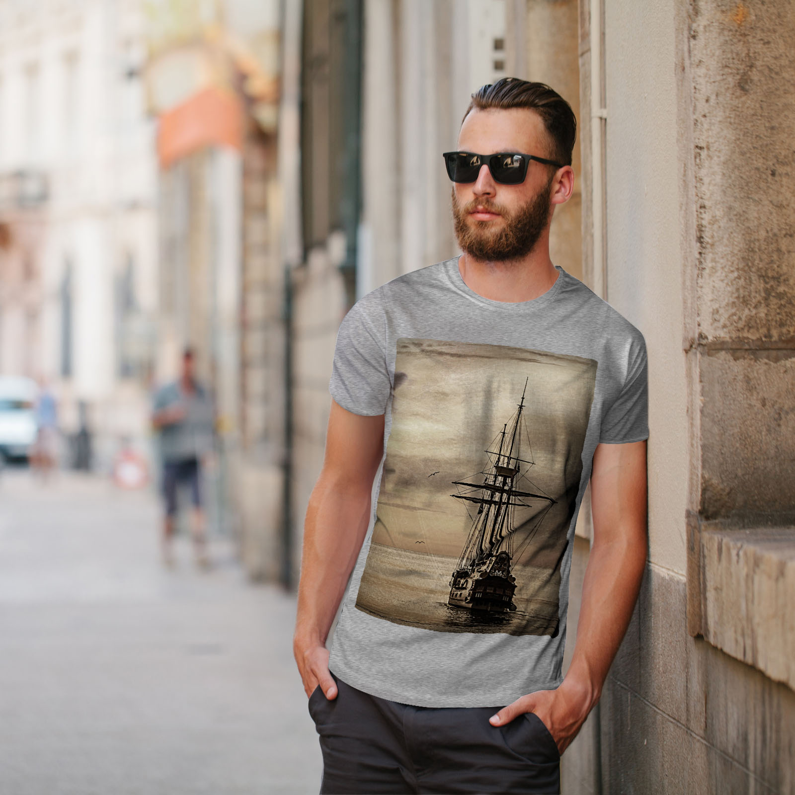 Wellcoda-Ship-Old-Ocean-Vintage-Mens-T-shirt-Sea-Graphic-Design-Printed-Tee thumbnail 17