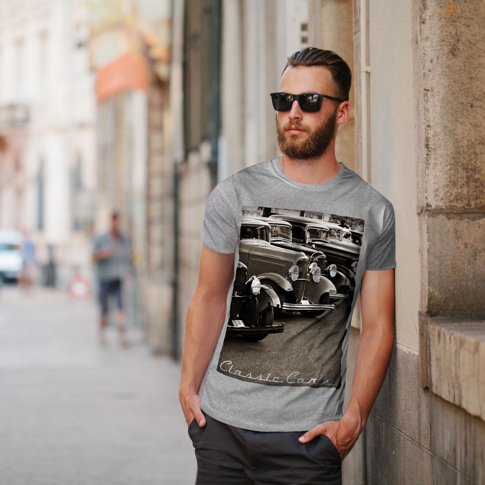 Wellcoda-Classic-Cars-Mens-T-shirt-Retro-Graphic-Design-Printed-Tee thumbnail 17