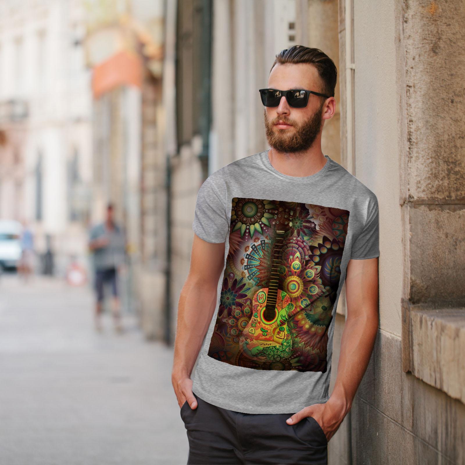Wellcoda-Colorful-Guitar-Mens-T-shirt-Music-Graphic-Design-Printed-Tee thumbnail 17